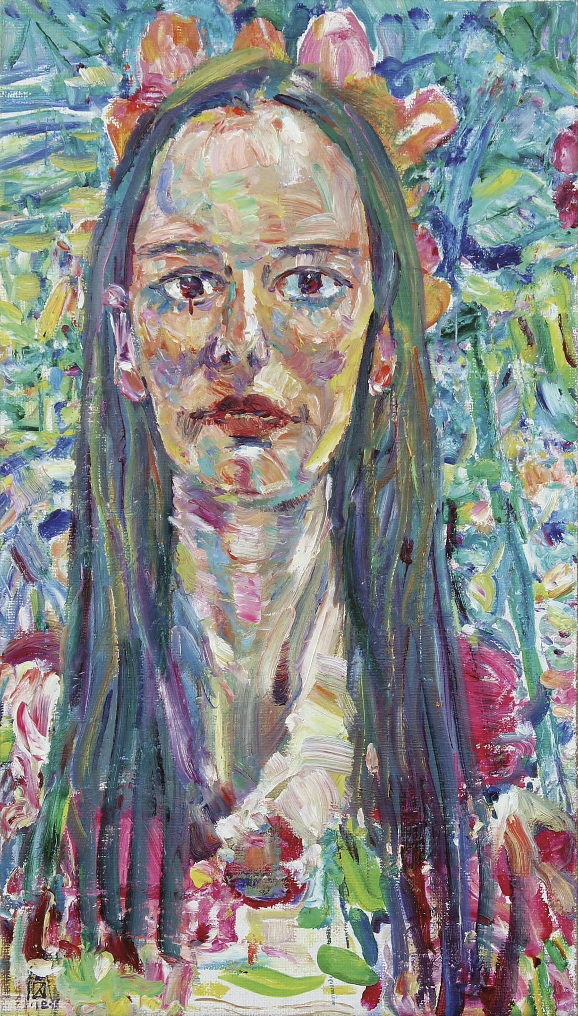 Mary. 2018. Oil on canvas. 64,5 х 37