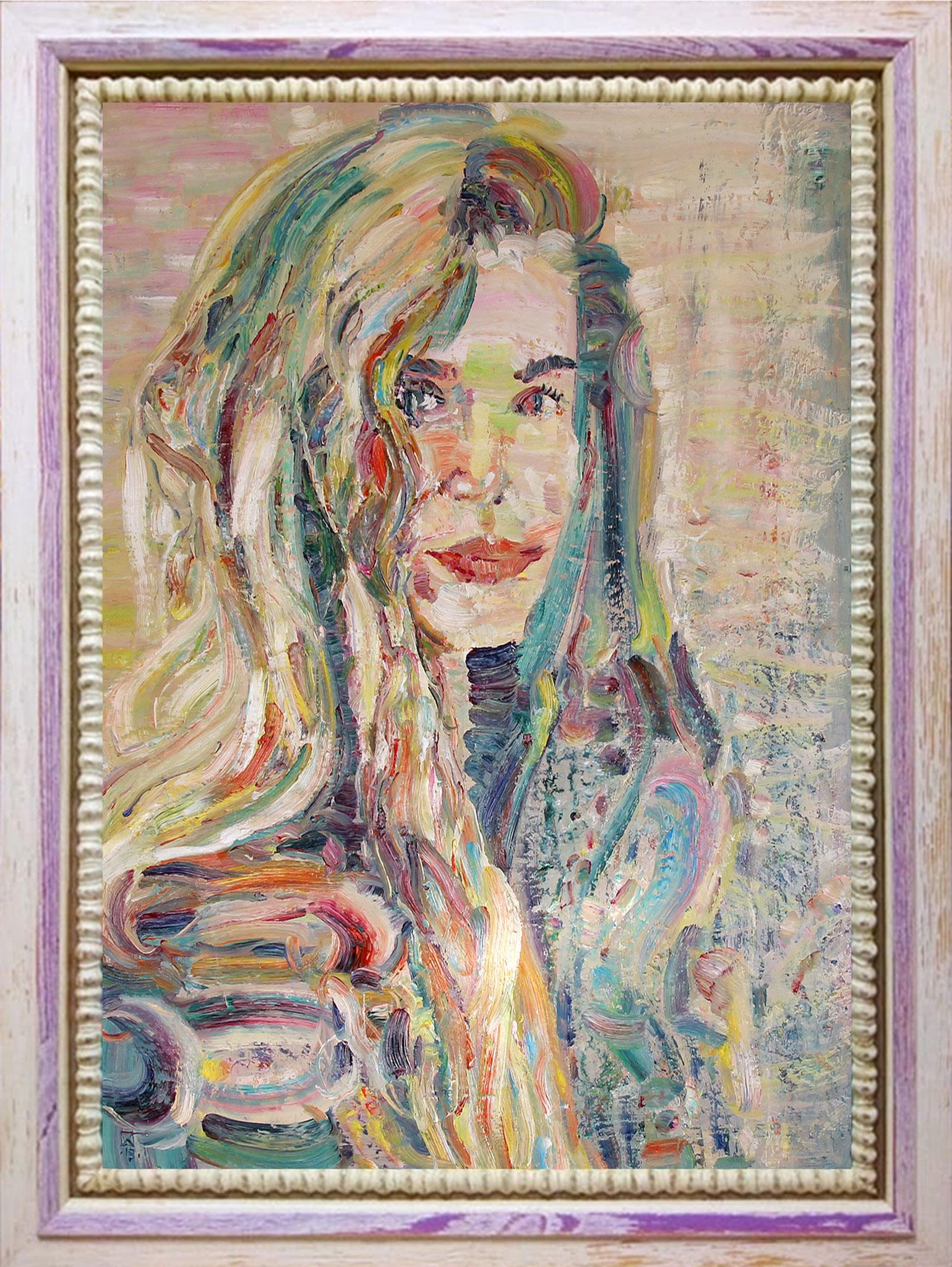 Tenderness. 2019. Oil on canvas, cardboard. 70 x 50