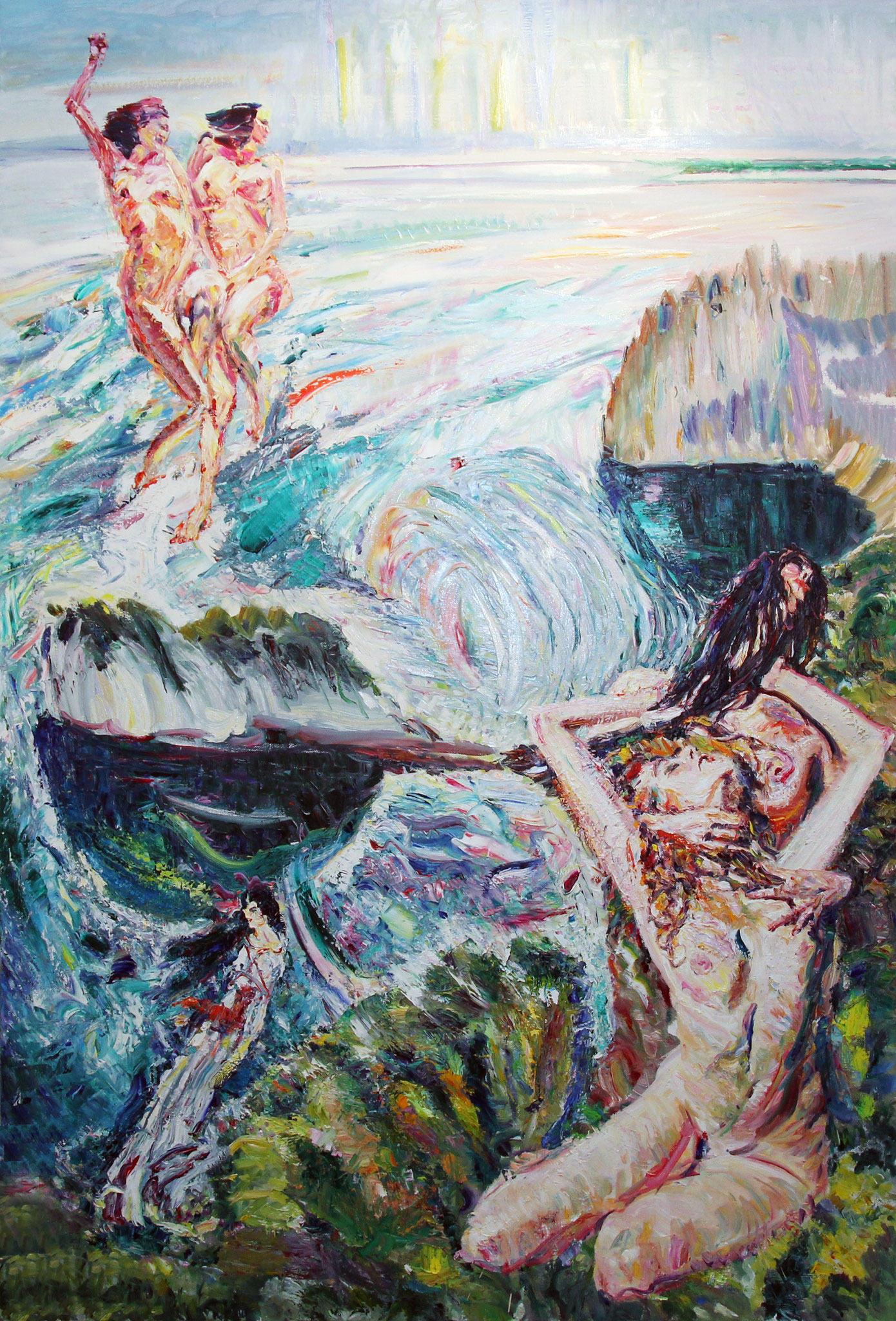 Silver of the Adriatic. 2012. Oil on canvas. 220 х 150