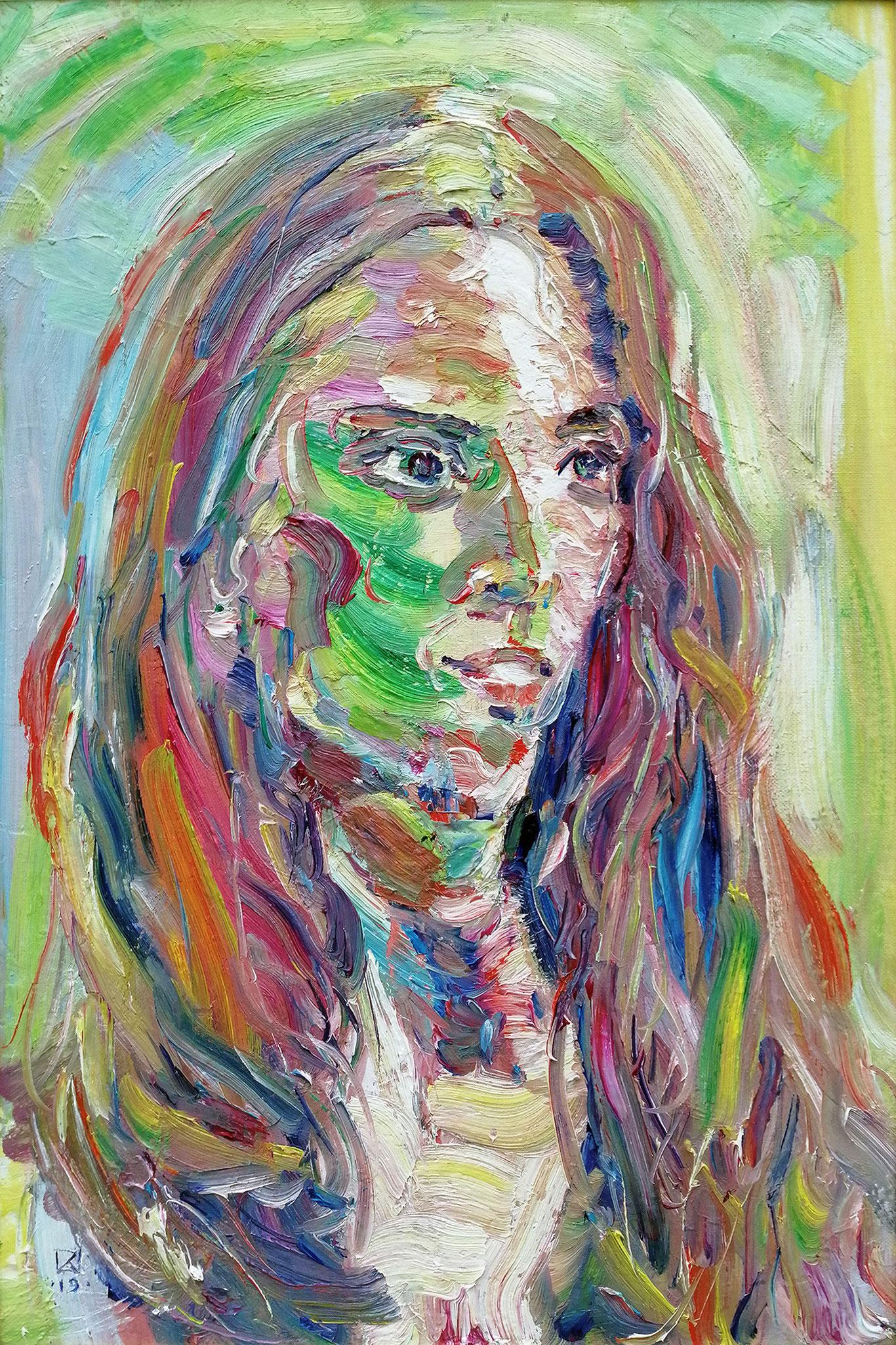 Portrait of a Girl. 2019. Oil on canvas, cardboard. 60 x 40