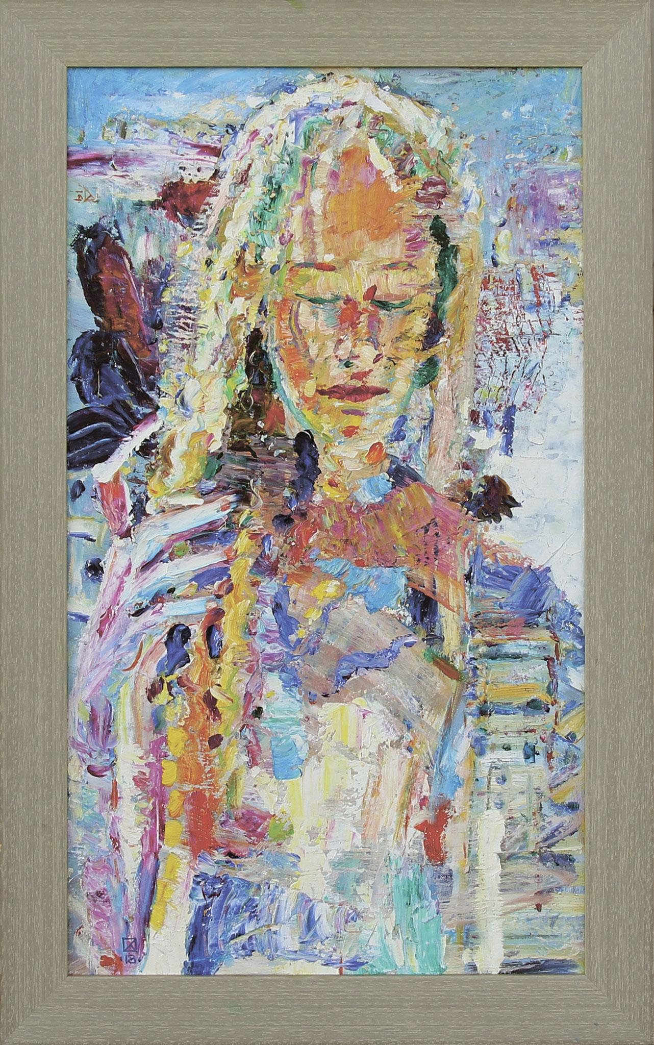 Vernal. 2018. Oil on canvas, cardboard. 66 х 38