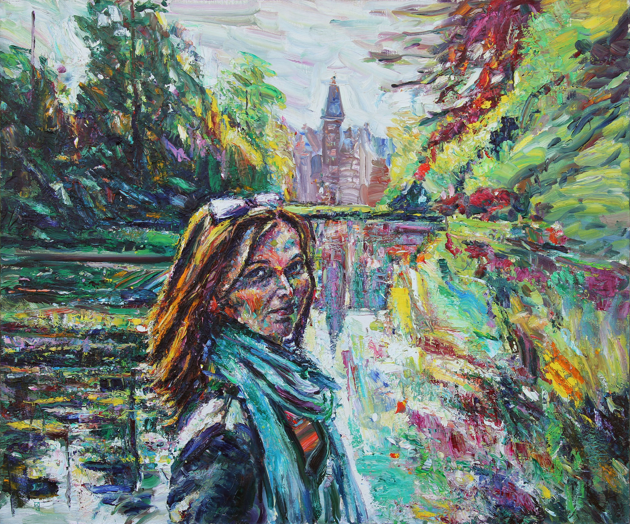 On the Shore of Marvelous Lake. 2013. Oil on canvas. 100 х 120
