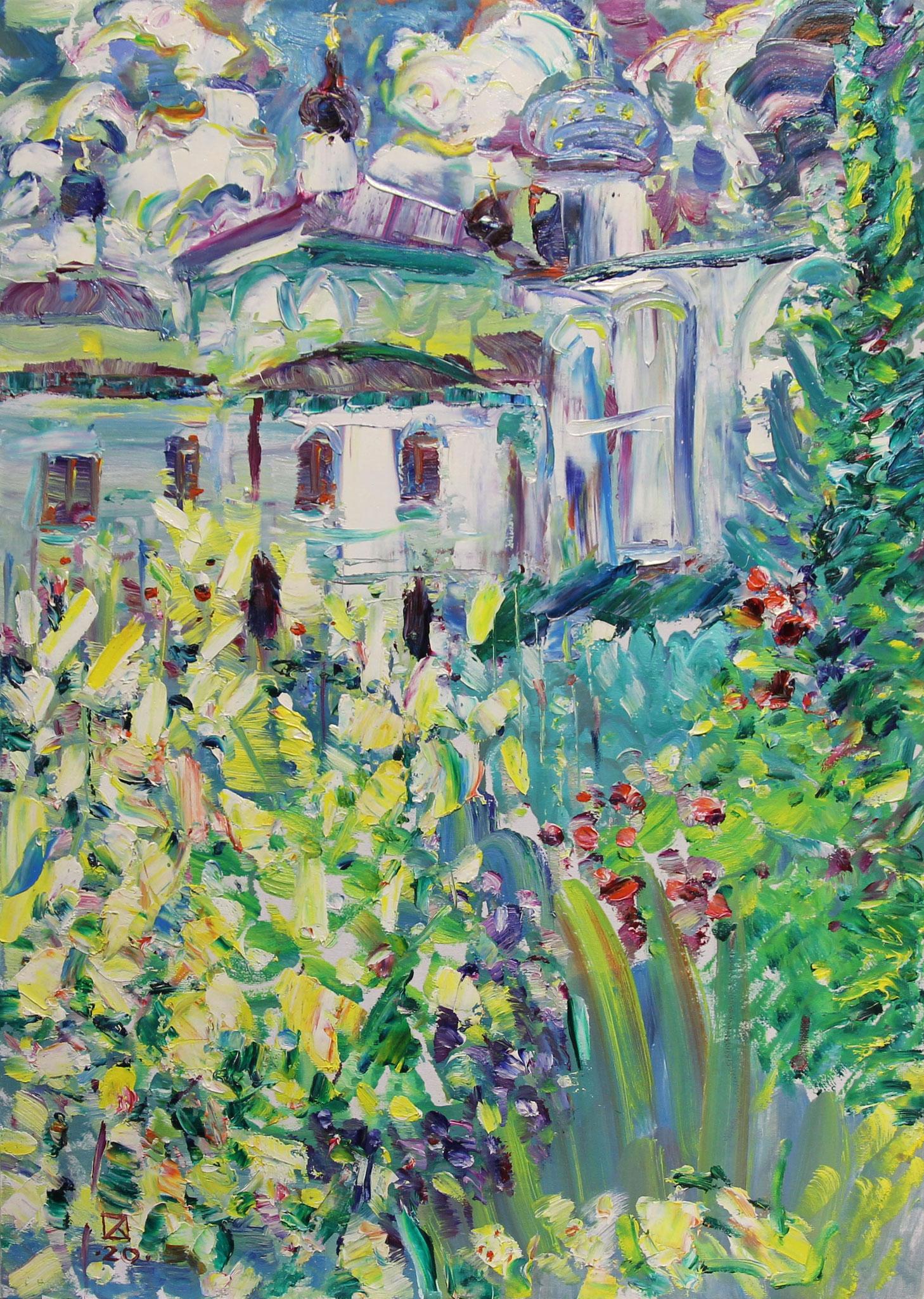 Garden of Eden. 2020. Oil on cardboard.   70 х 50