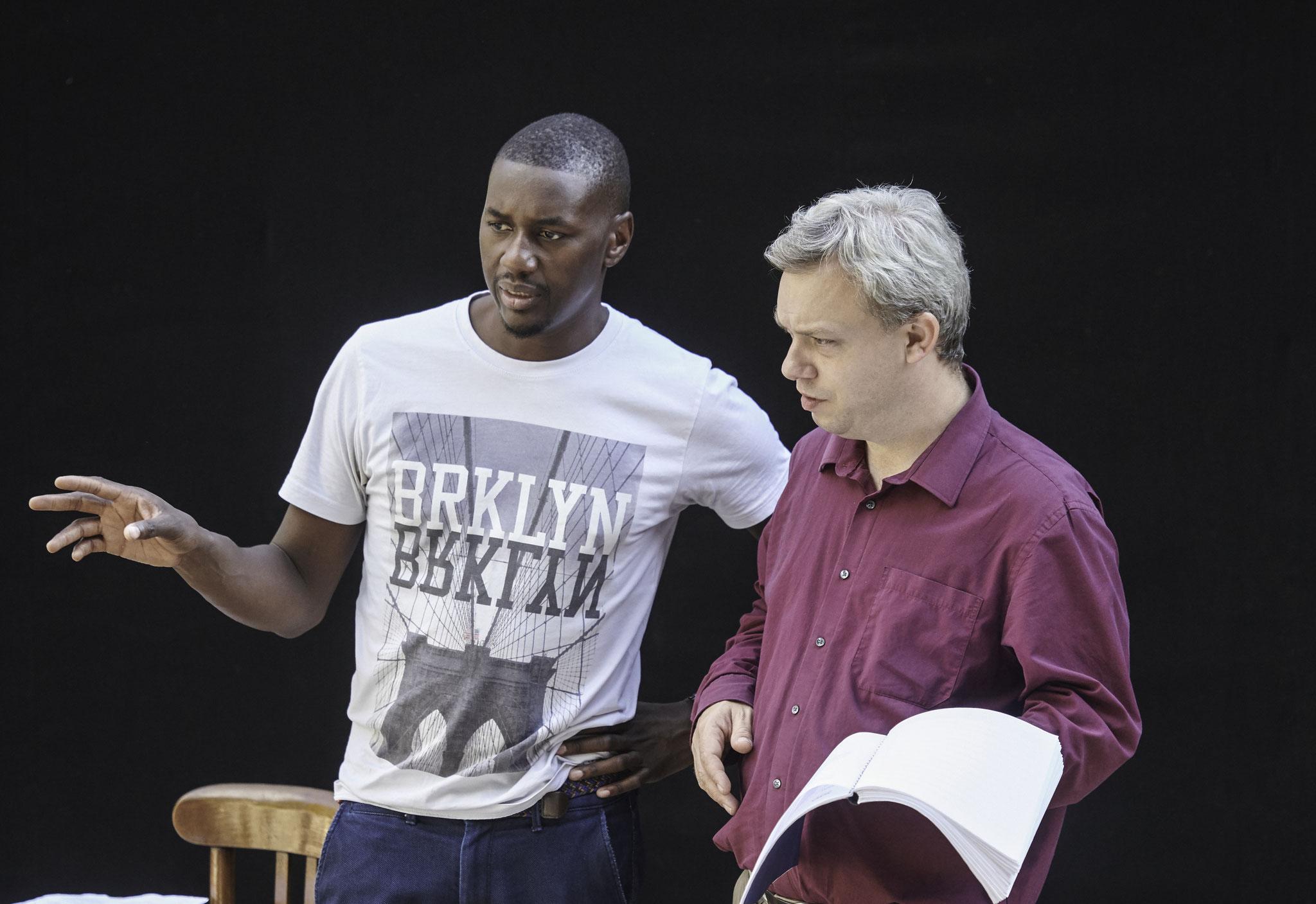 Mit dem Choreografen Hervé Sika