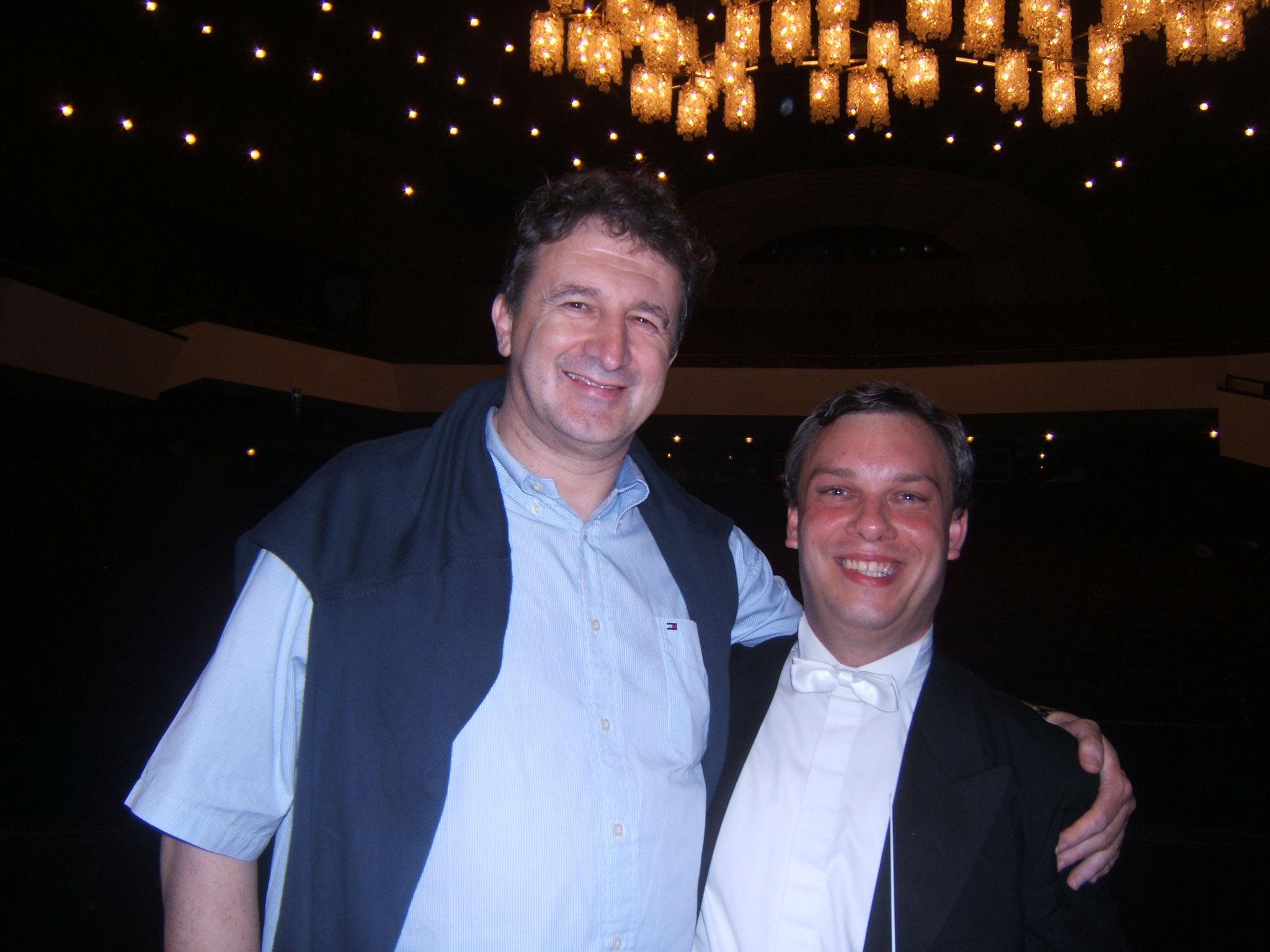 Avec le Maestro Dejan Savic
