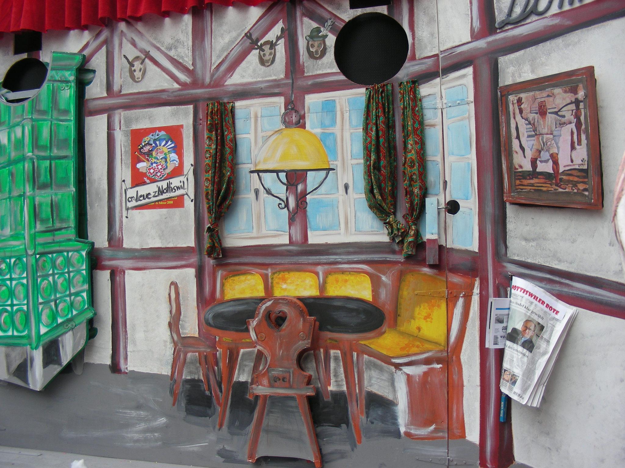 Fasnacht Domus, gemalte Kulisse, Jodlerfest, 2008