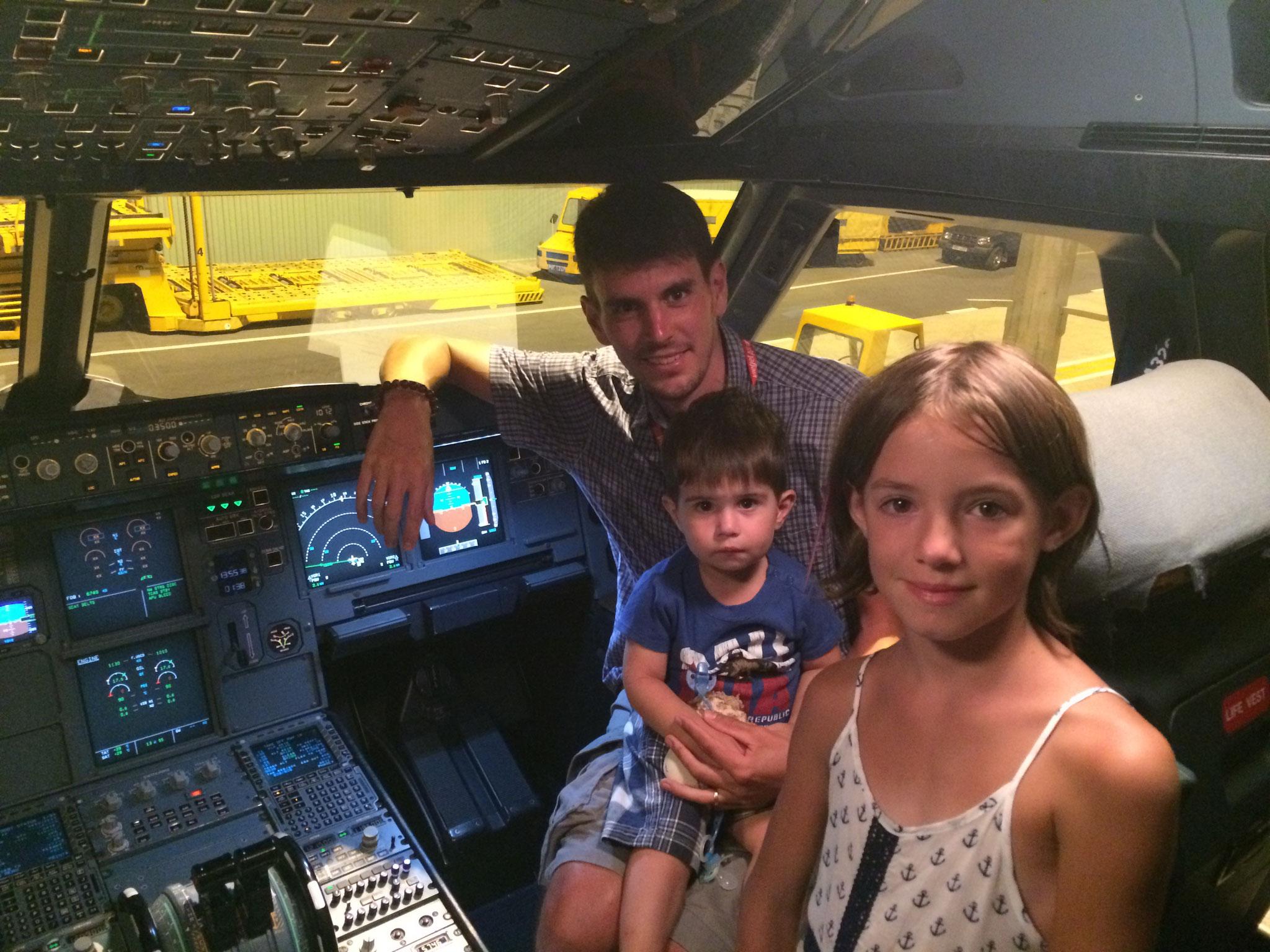 dans l'avion de papa