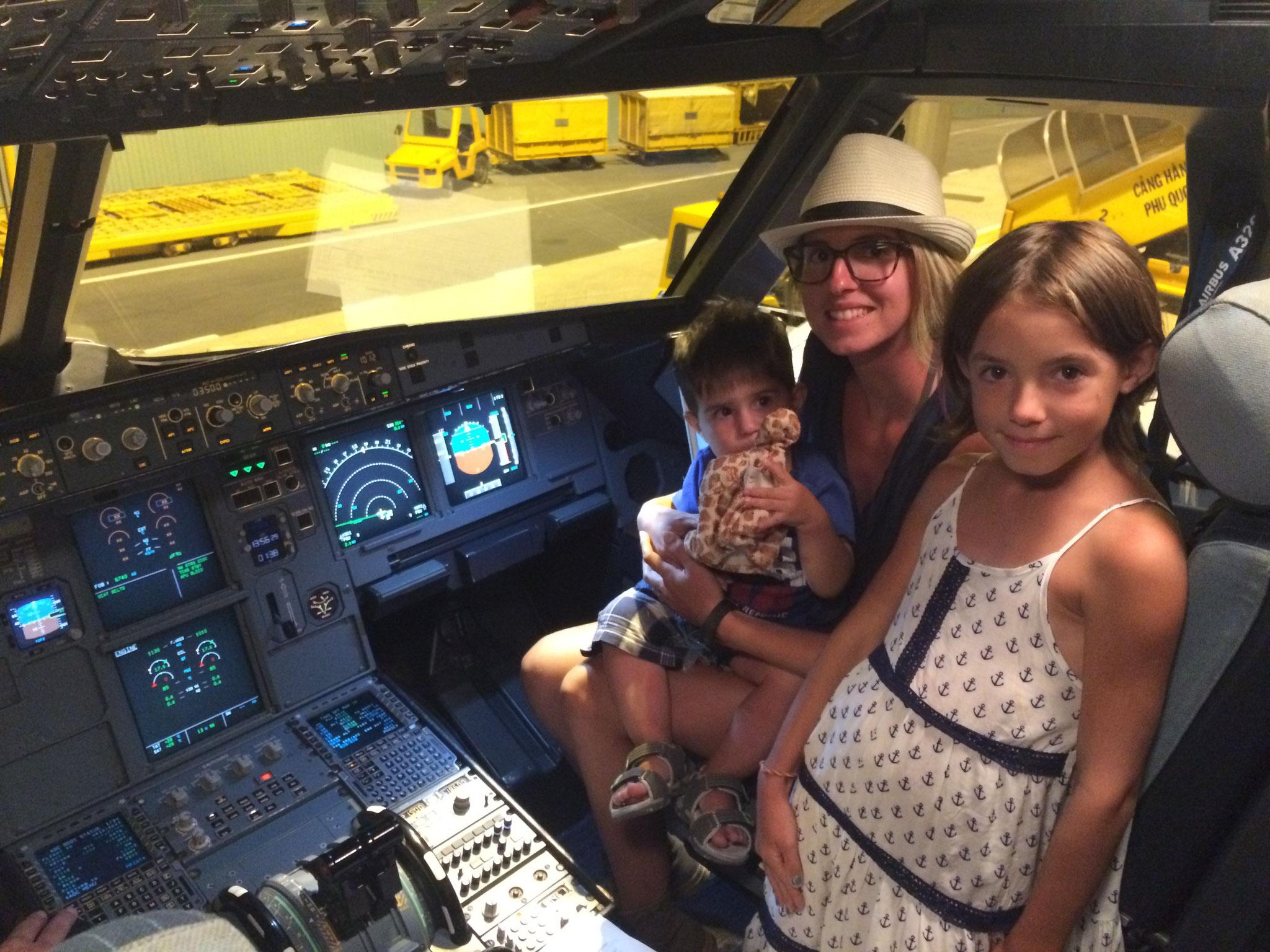 première fois pour moi aussi dans son avion