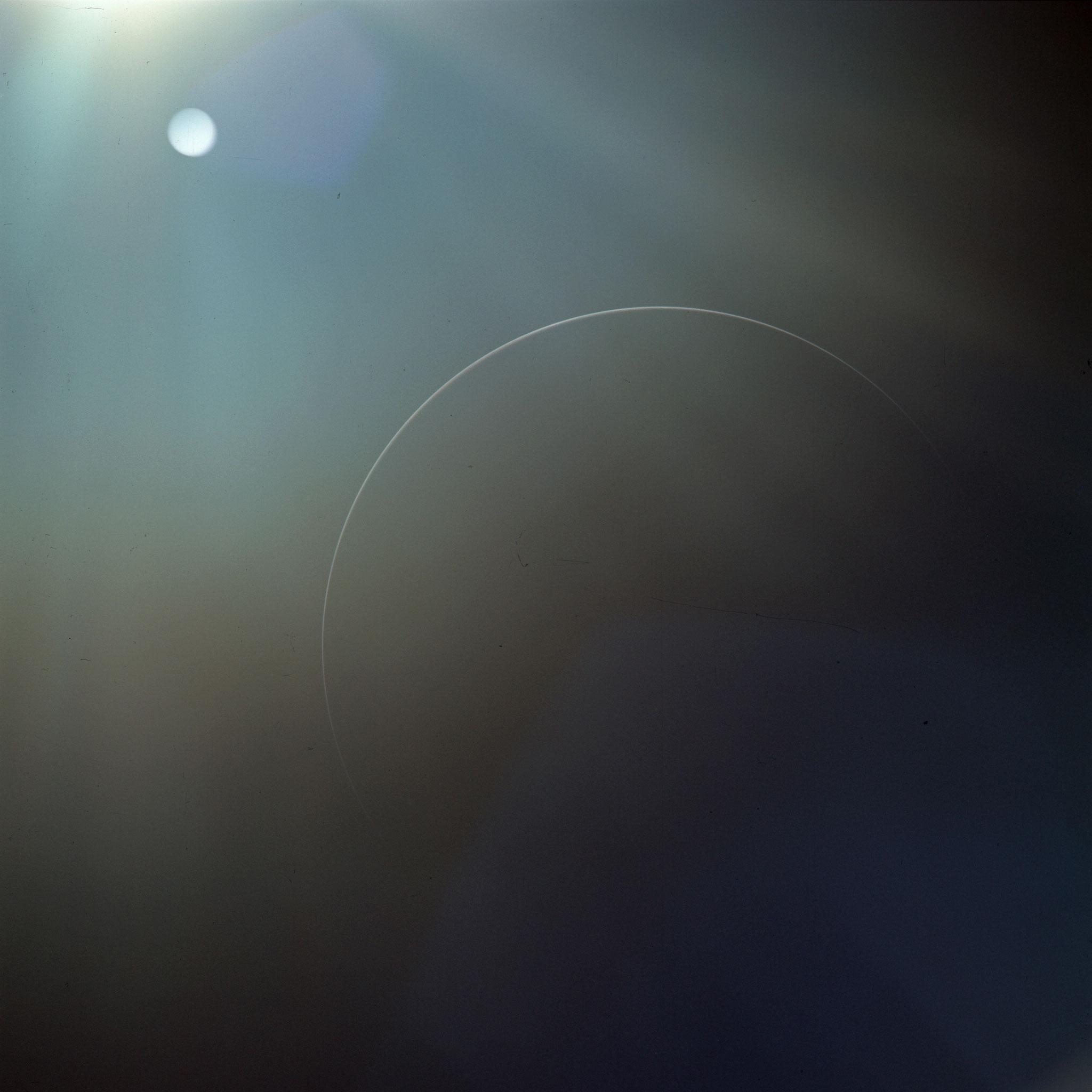 Un très fin croissant de Terre, Apollo 12 - Photo : Nasa/CDN
