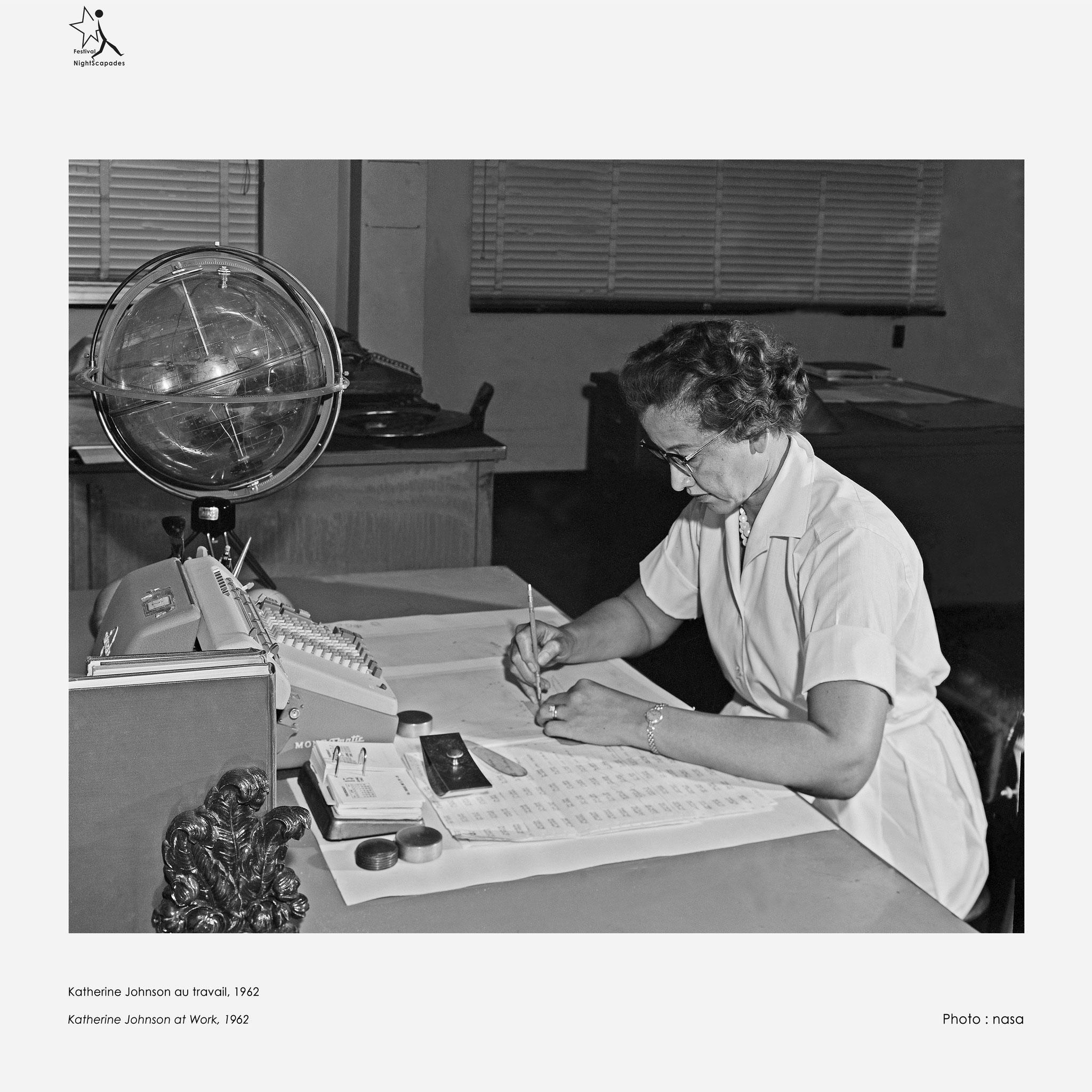 Katherine Johnson au travail, 1962