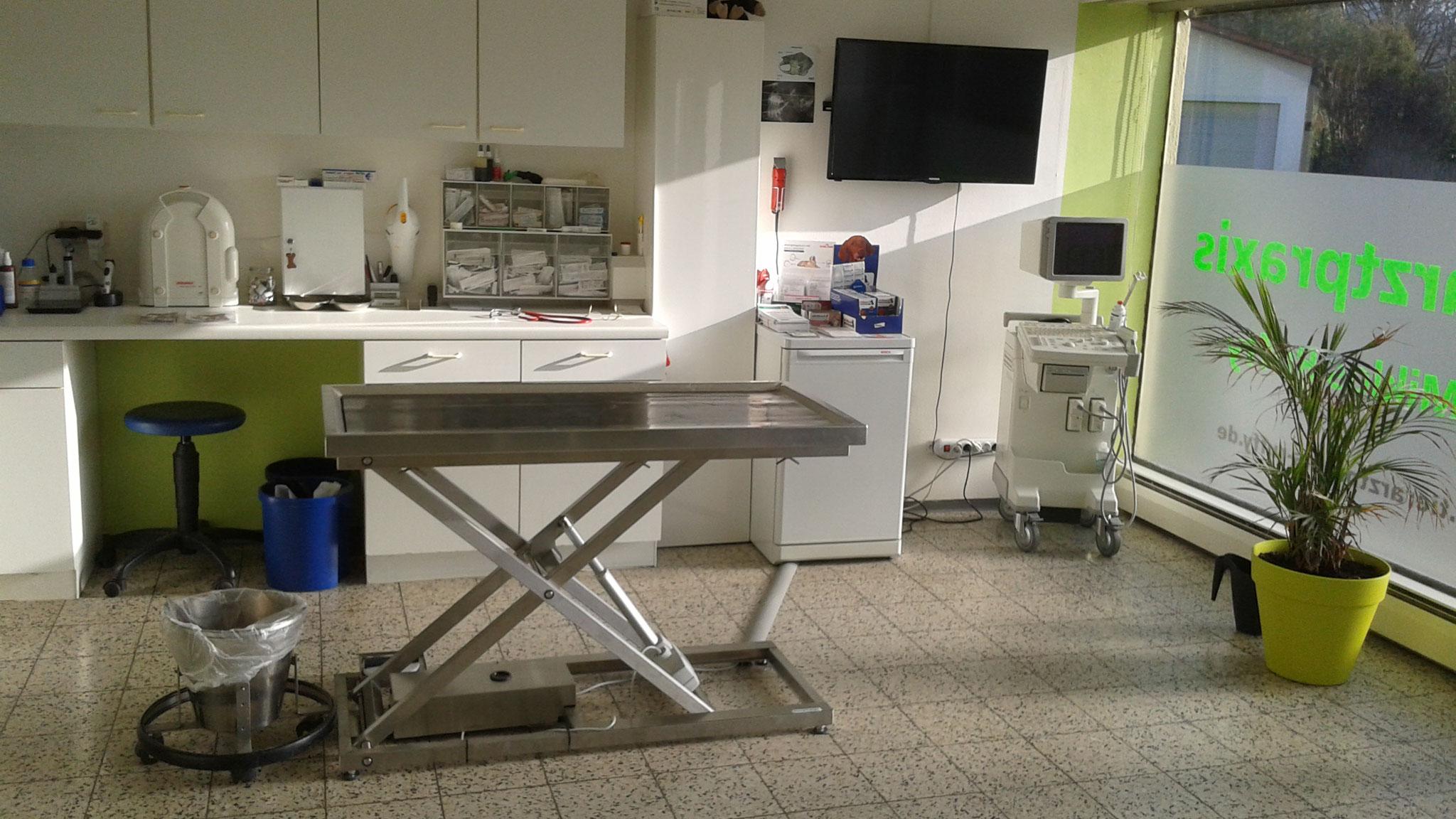 Behandlung m. Ultraschallgerät u. digit. Röntgen