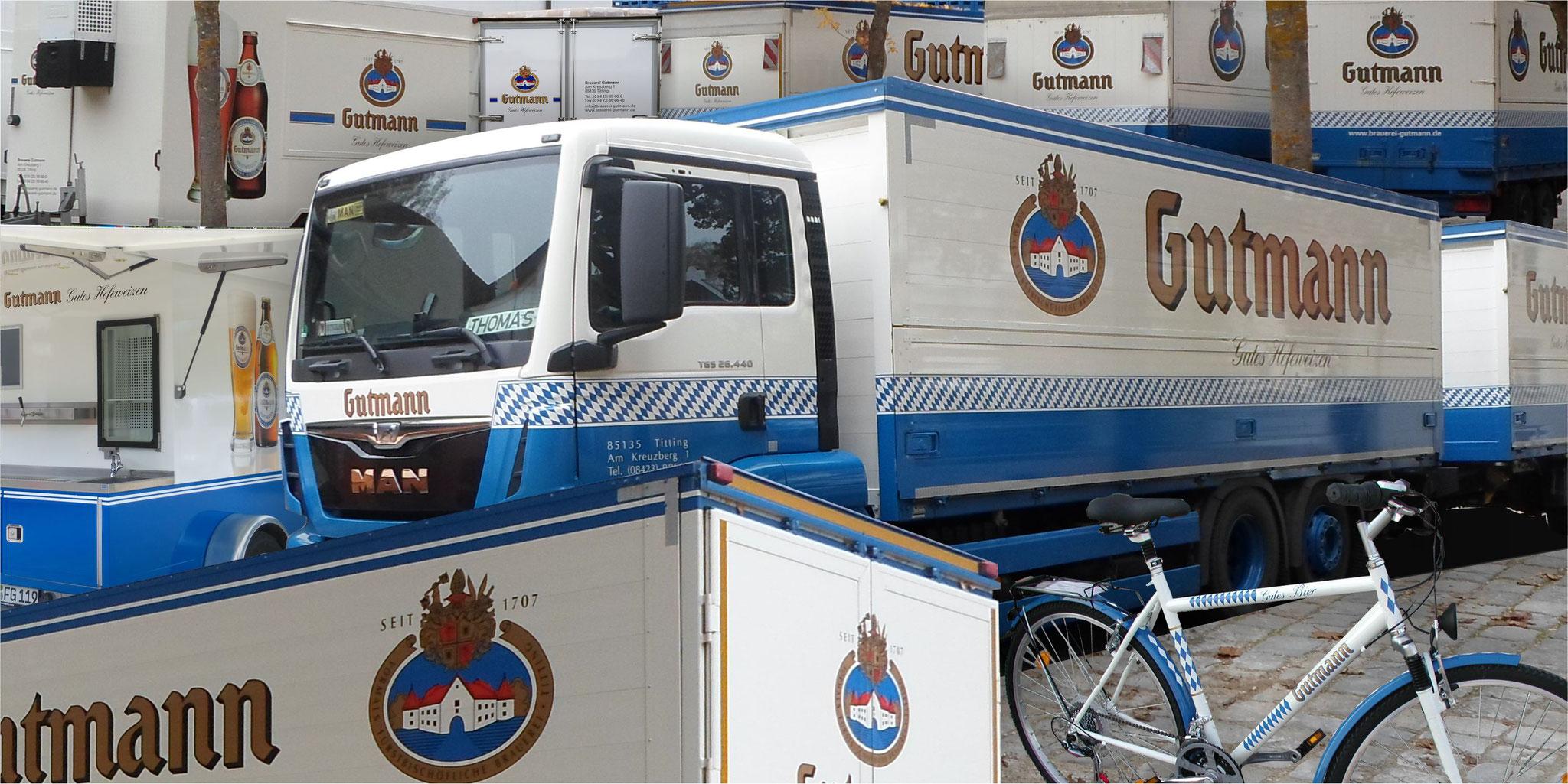 Brauerei Gutmann - Fahrzeugbeschriftungen seit 1995