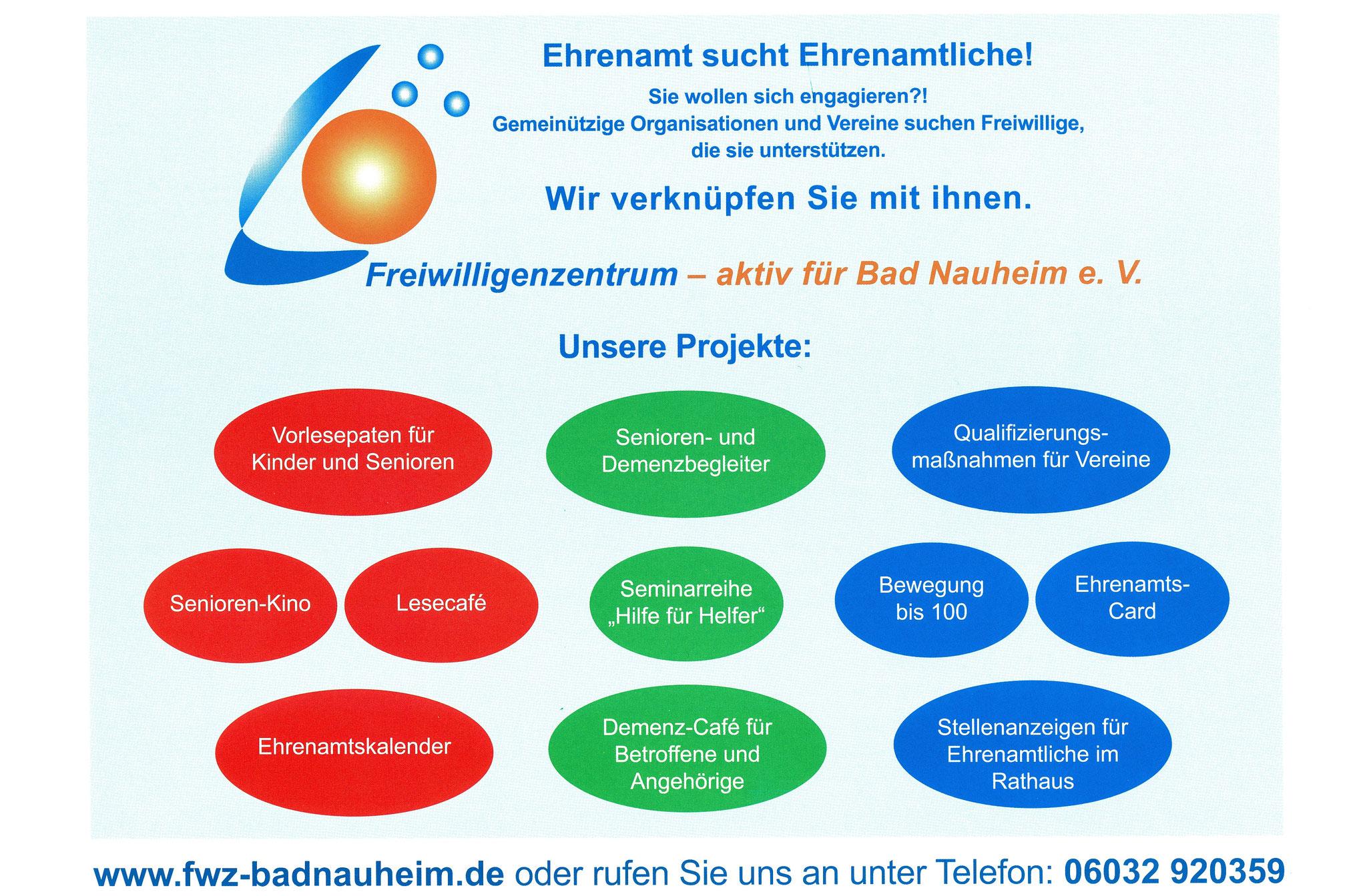 FWZ-Projekte - Ehrenamtskalender 2016 des Freiwilligenzentrums Bad Nauheim