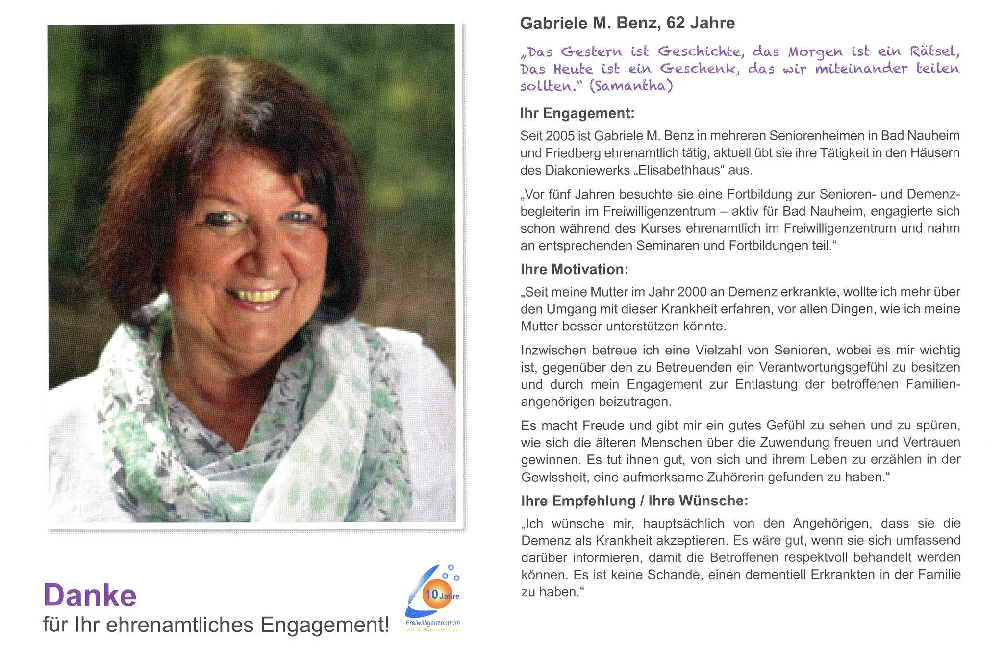 Im Juni vorgestellt - Ehrenamtskalender 2016 des Freiwilligenzentrums Bad Nauheim