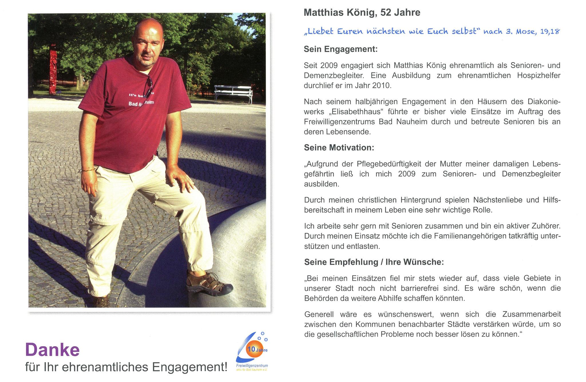 Im April vorgestellt - Ehrenamtskalender 2016 des Freiwilligenzentrums Bad Nauheim