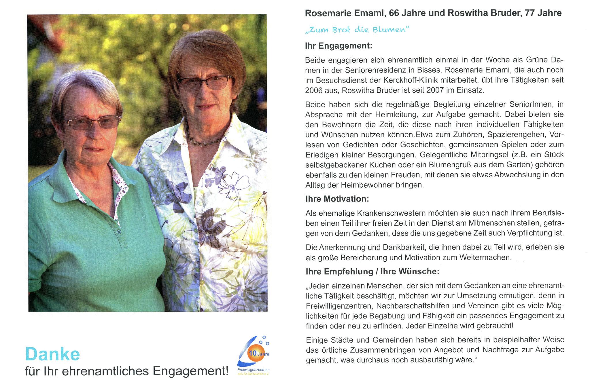 Im Mai vorgestellt - Ehrenamtskalender 2016 des Freiwilligenzentrums Bad Nauheim