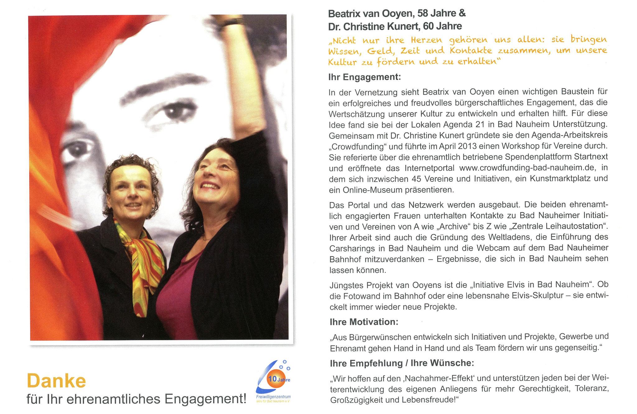 Im November vorgestellt - Ehrenamtskalender 2016 des Freiwilligenzentrums Bad Nauheim