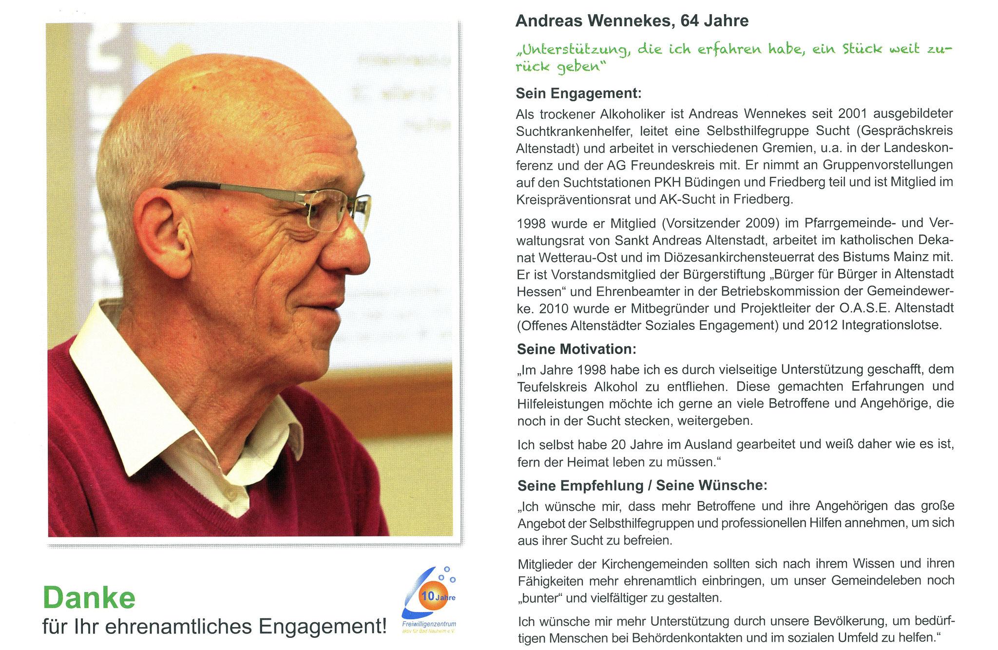 Im Dezember vorgestellt - Ehrenamtskalender 2016 des Freiwilligenzentrums Bad Nauheim