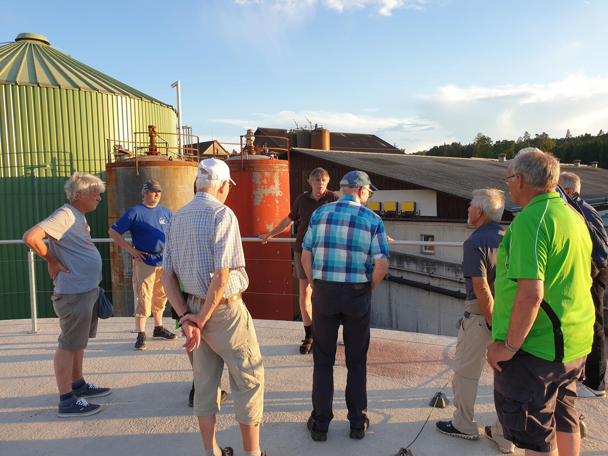 Unter uns entsteht das Biogas
