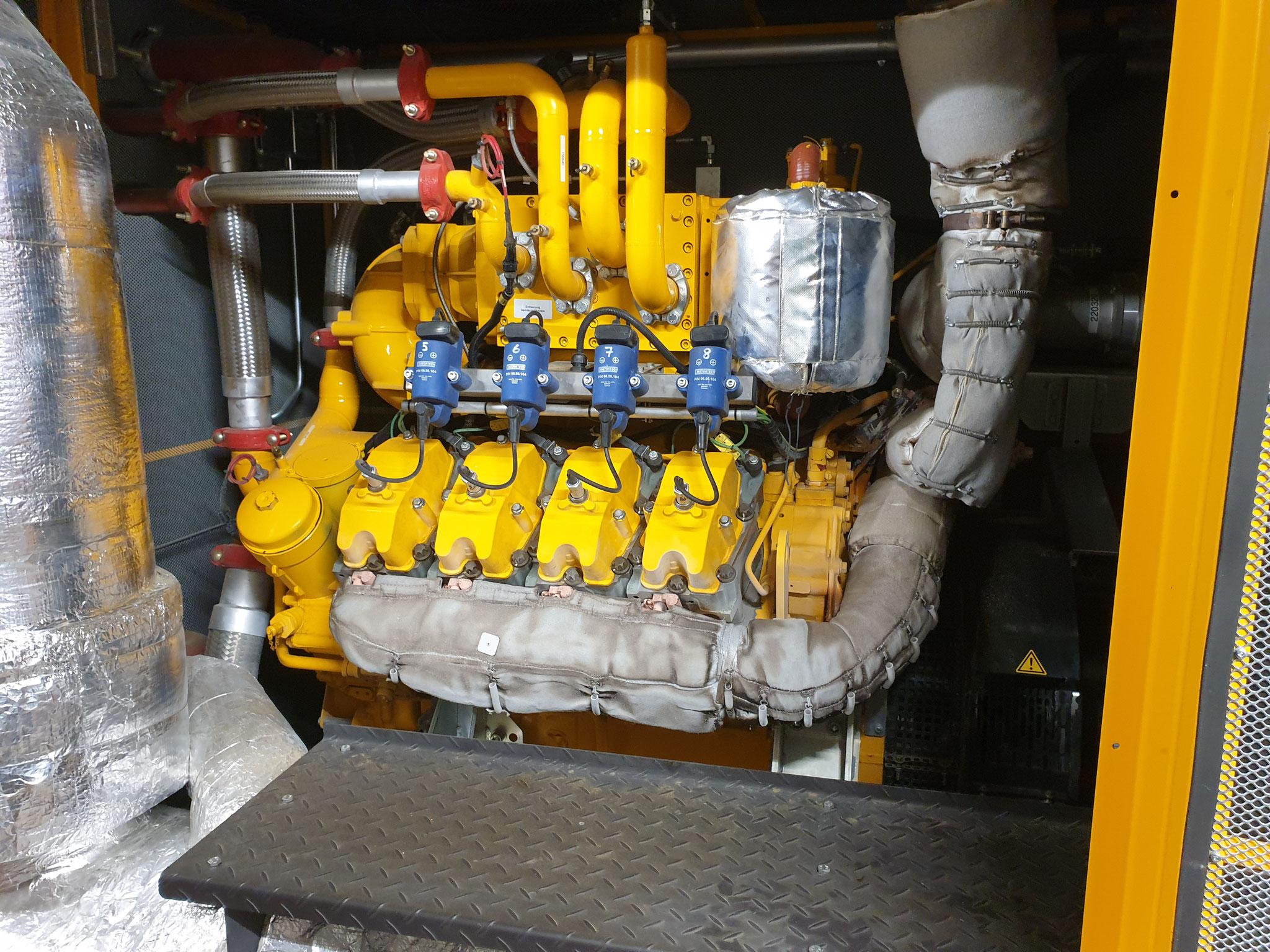 Motor für die Generatoren