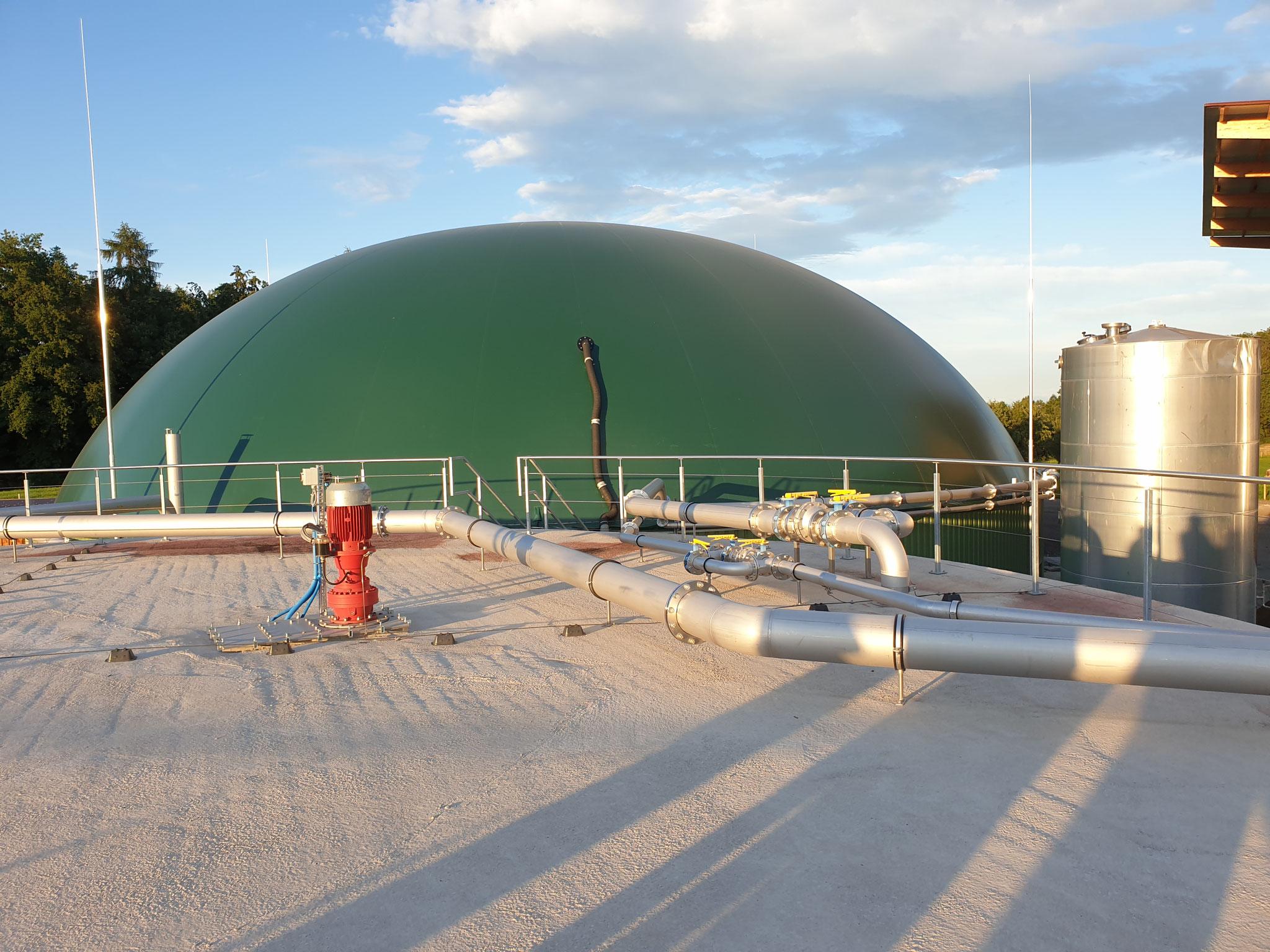 Blick auf die Gaskuppel