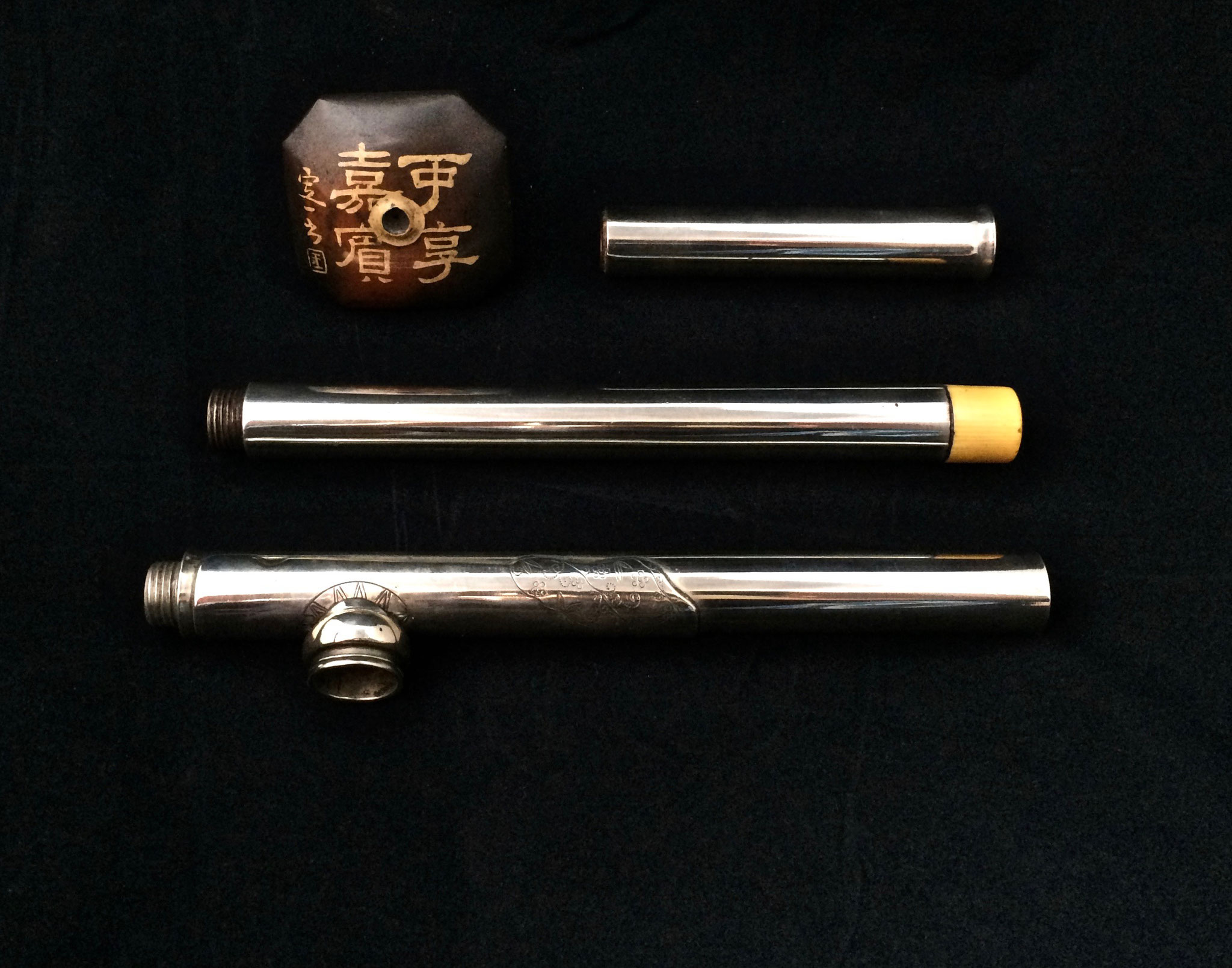 Paktong travel opium pipe (–> Pipes)