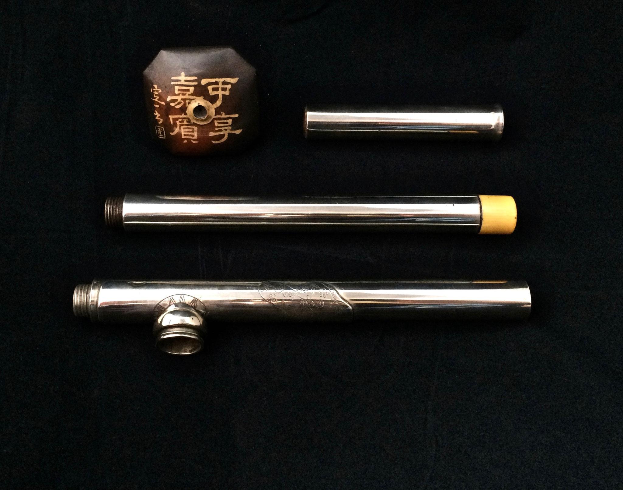 Paktong travel opium pipe (–> Pipes)