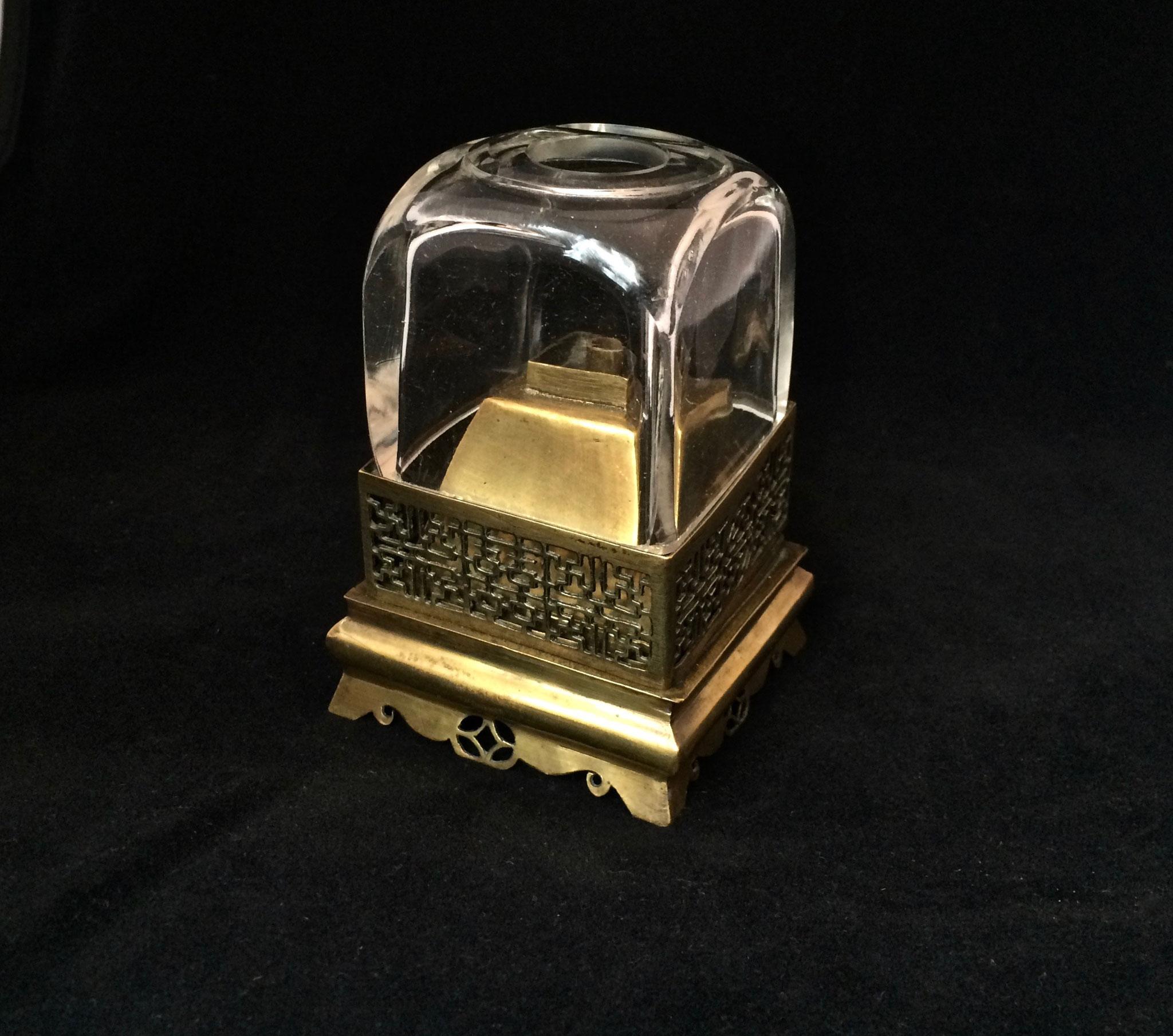Rare cubic shaped opium lamp  (–> Lampes)