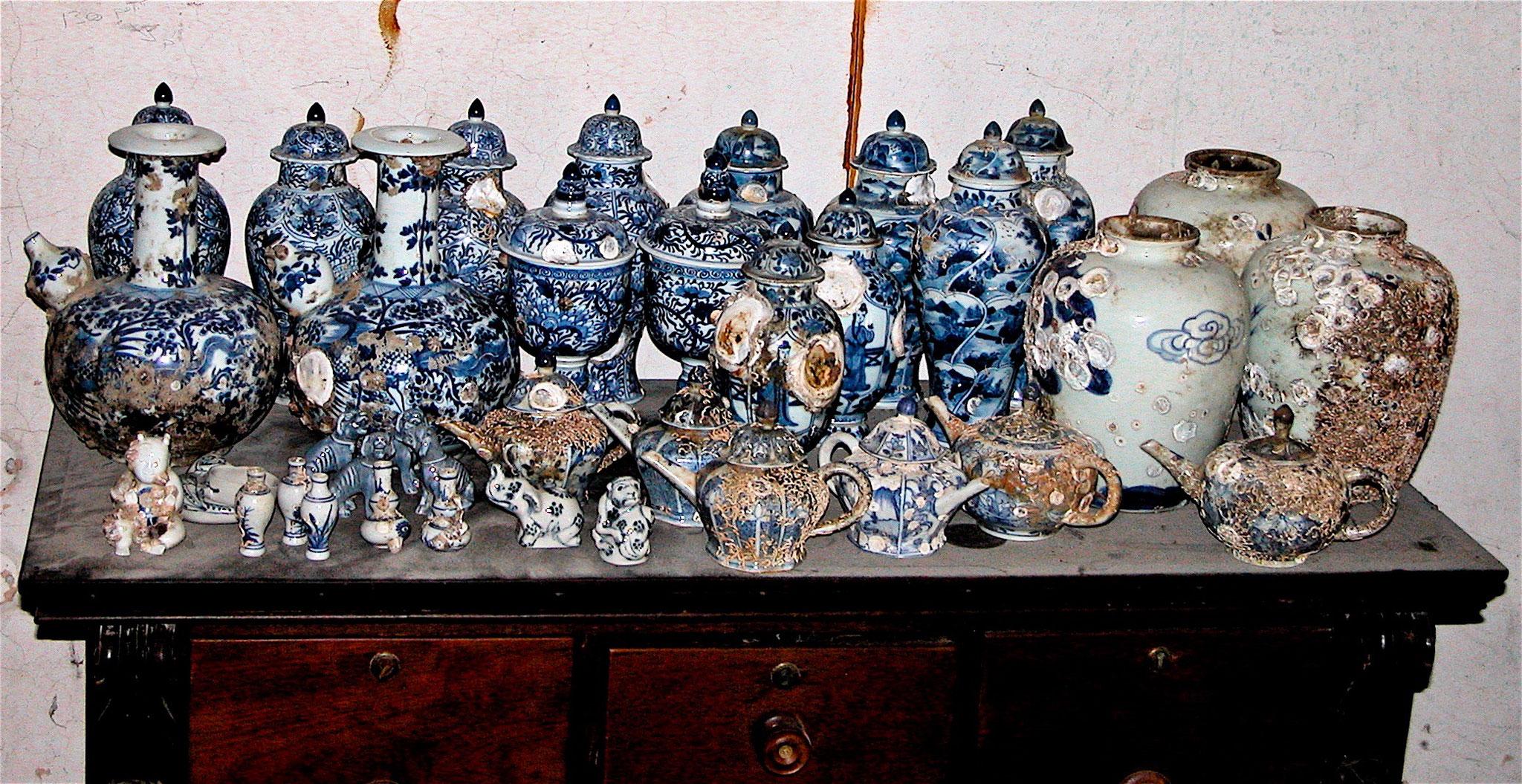Porcelaines d'épaves (dans leur jus)
