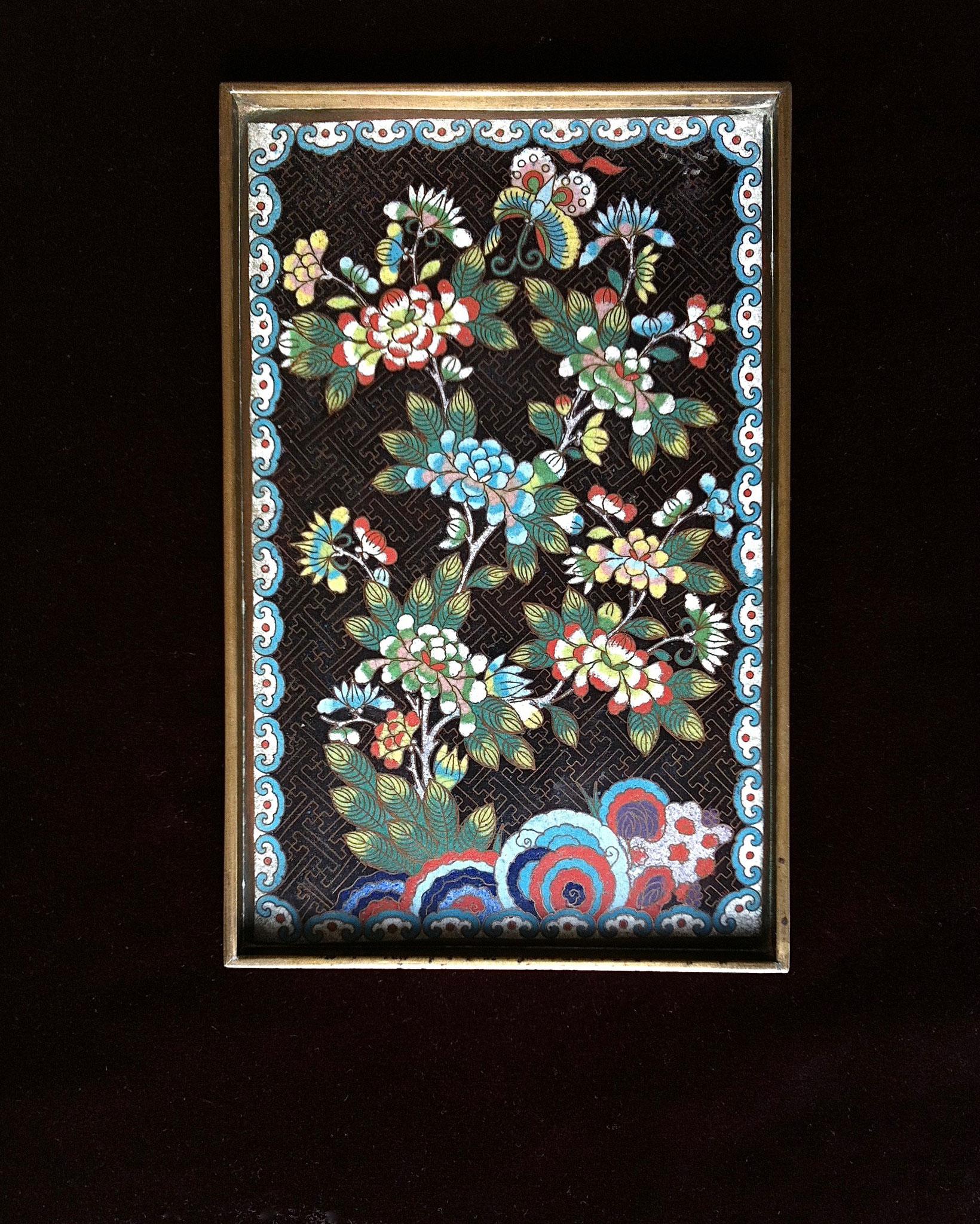 Cloisonné-enameled tray (–> Accessoires)
