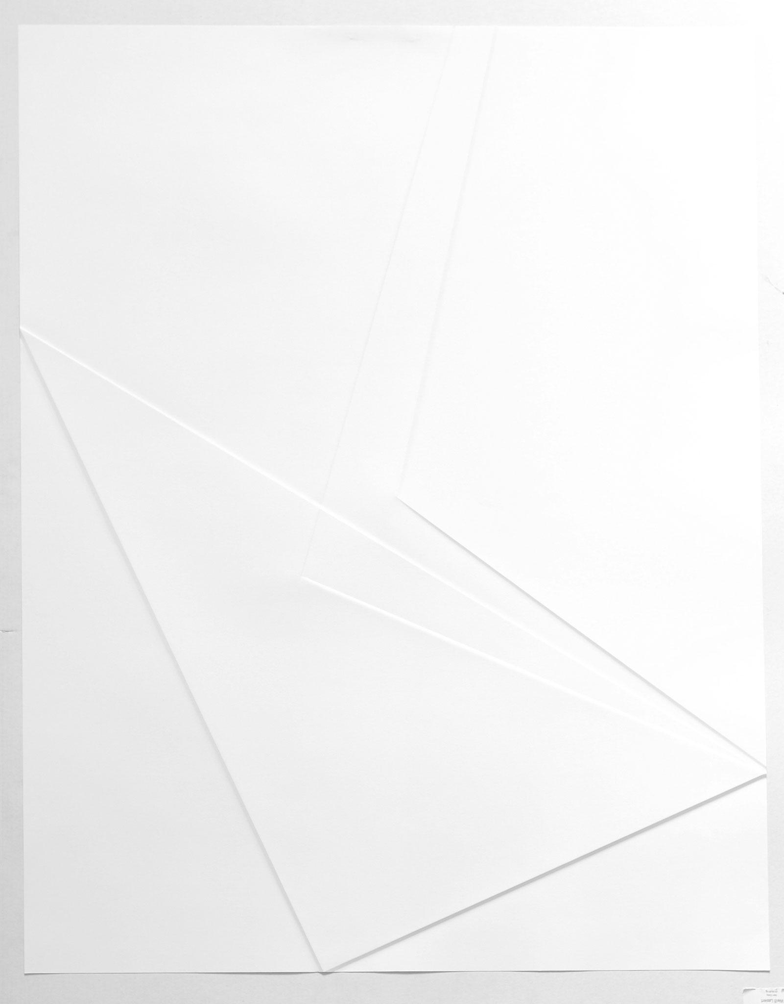 lines P22, 2017, Papier gefalzt, 59,5 x 77,0 cm