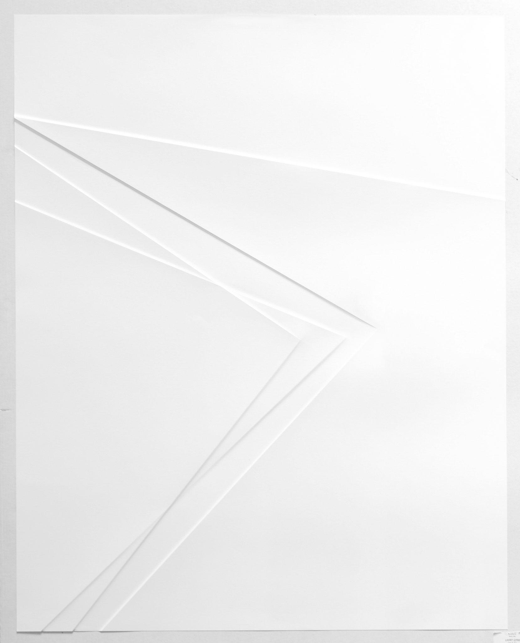 lines P24, 2017, Papier gefalzt, 59,5 x 77,0 cm