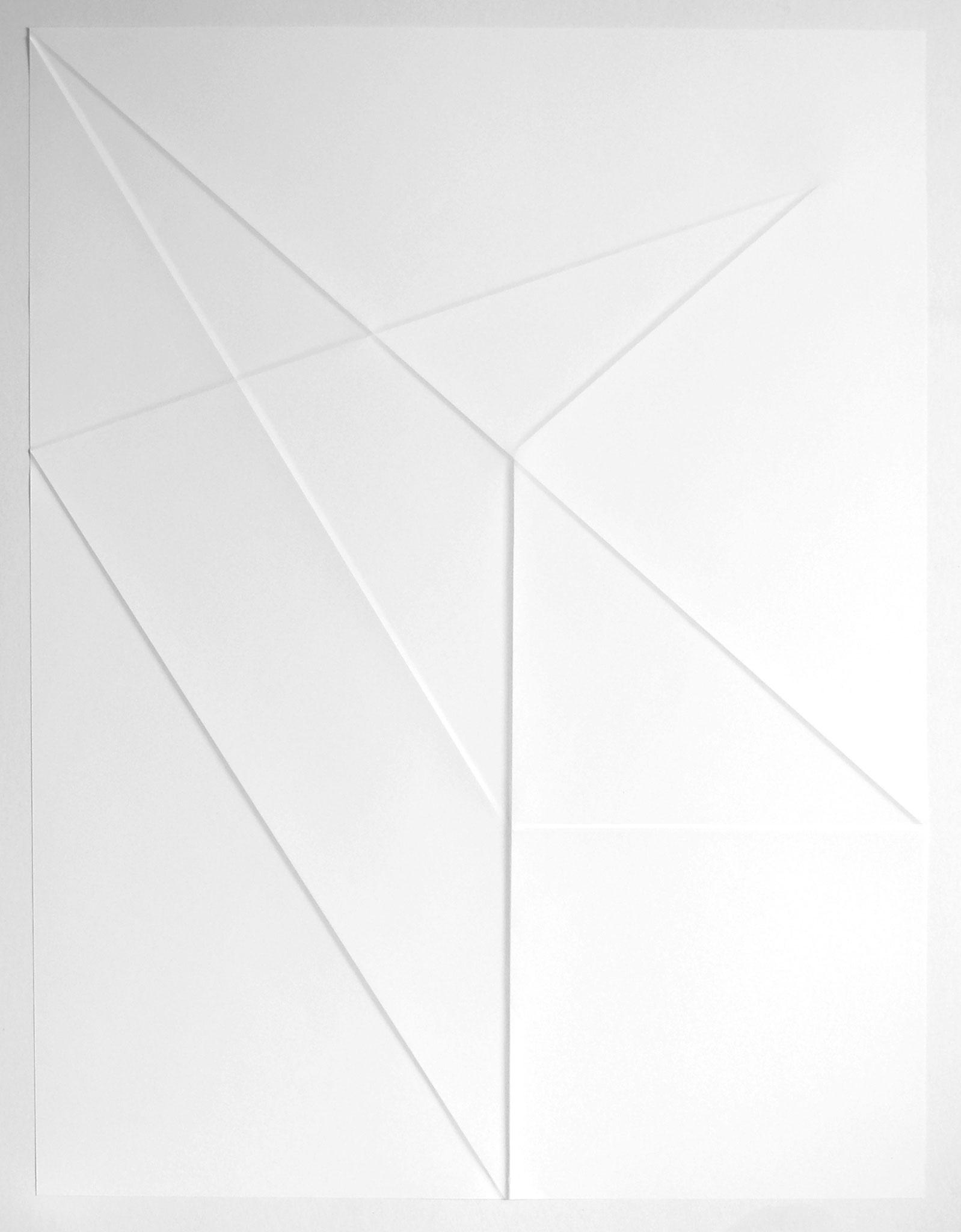 lines P37, 2019, Papier gefalzt, 59,5 x 77,0 cm