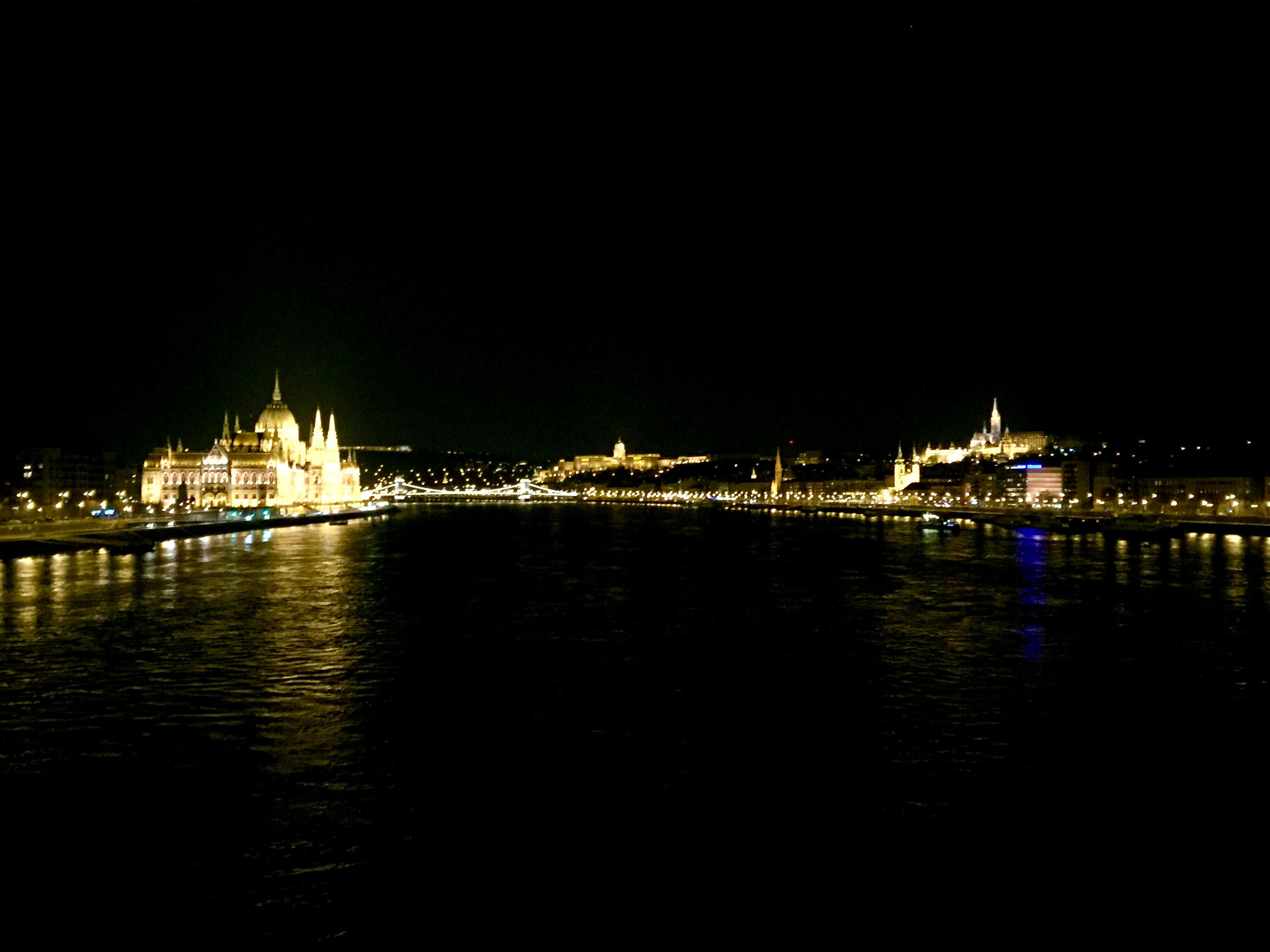 The Parliament, Chain Bridge and Buda Castle by night