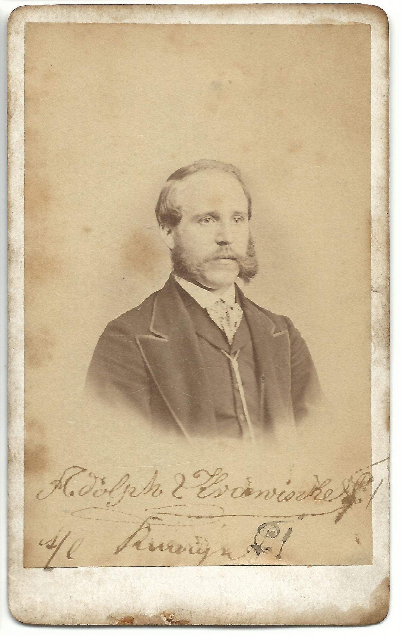 Adolph Krawinkel ca. 1865 (geb. 1.8.1840)