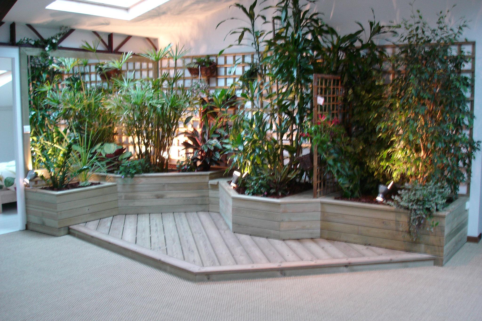 Jardin d'intérieur dans un loft centre Nantes