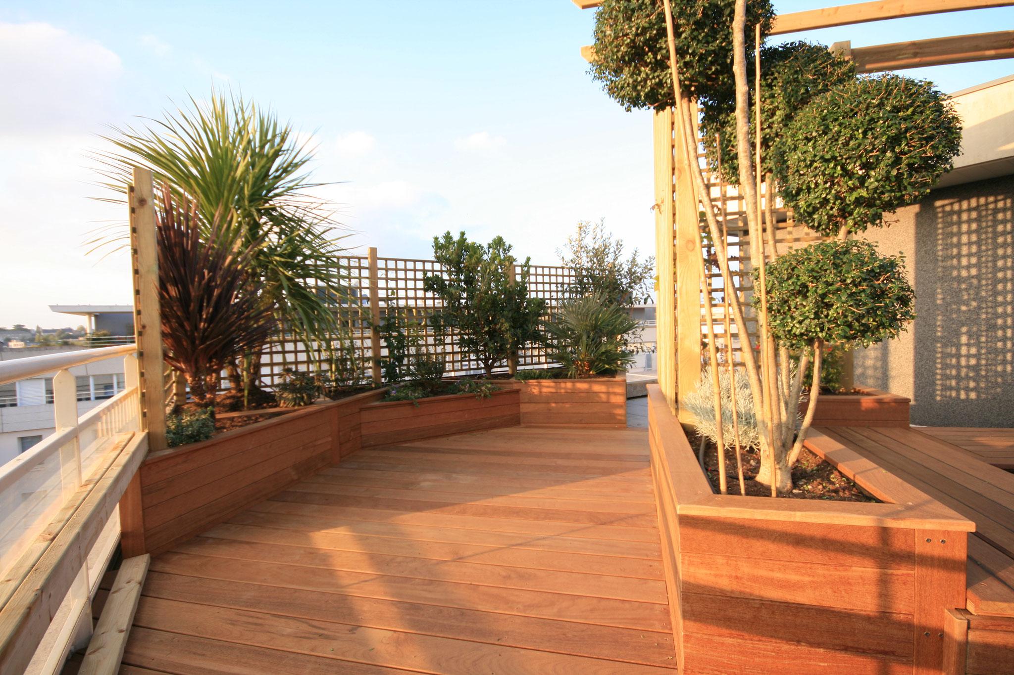 terrasse bois JARDIVILLE