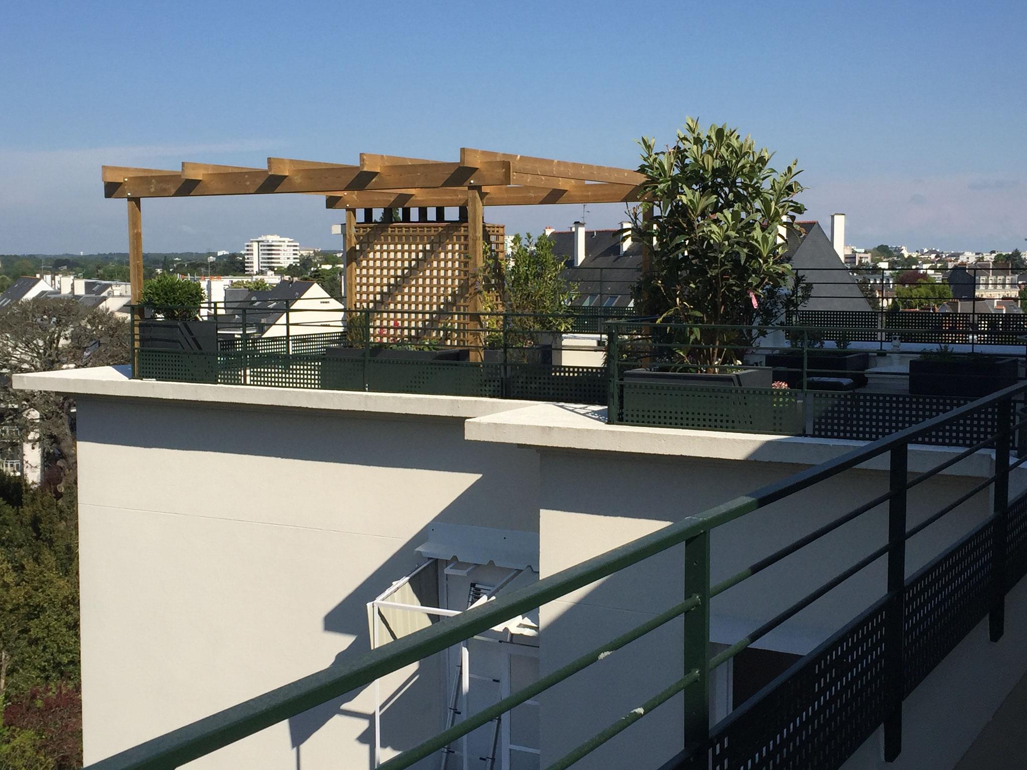 Création et aménagement de terrasse en étage