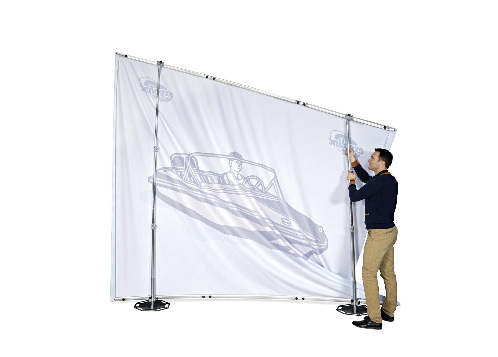 Expolinc Fabric System Höhenverstellung