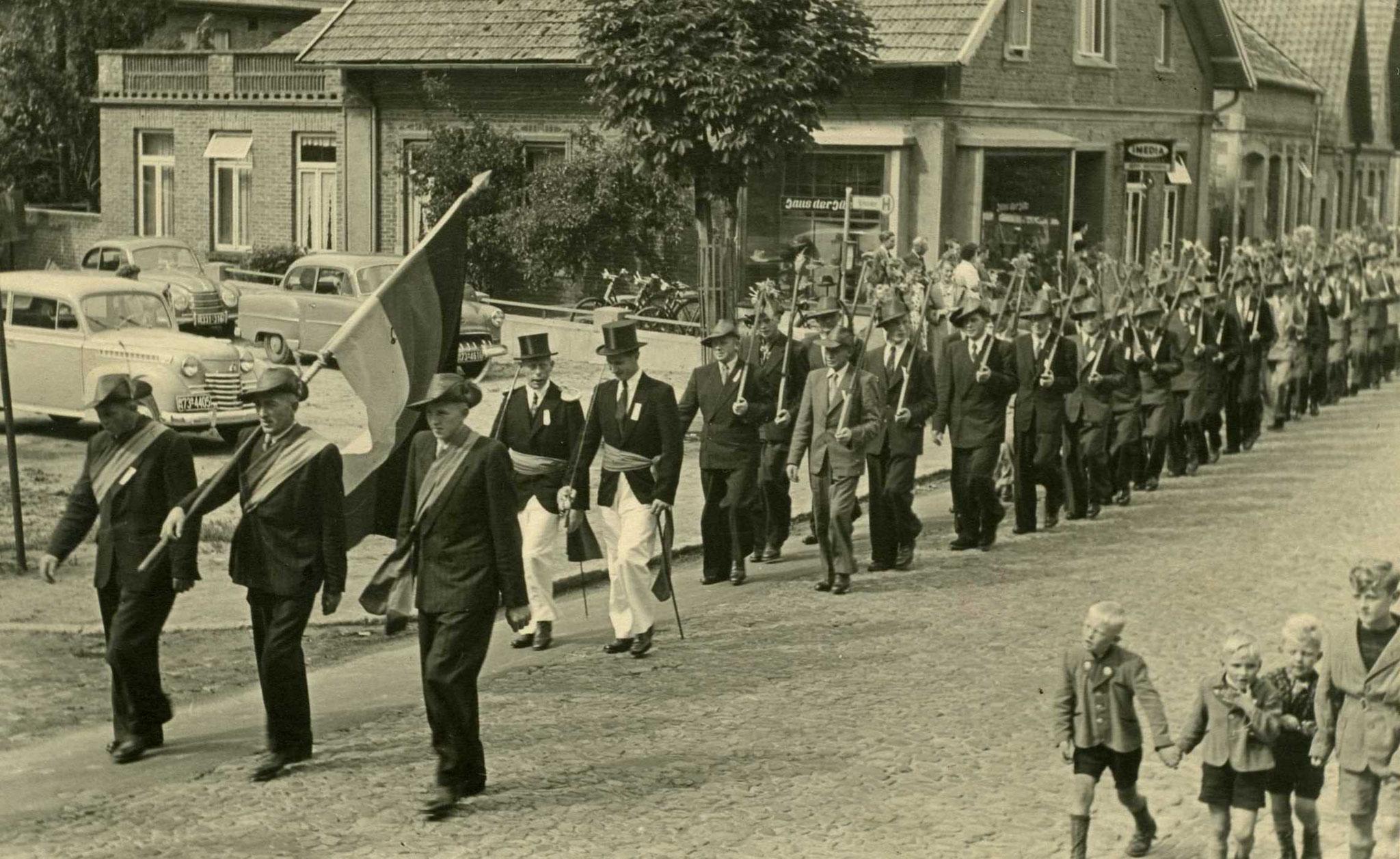 Bauerschaftskompanie Harpendorf-Düpe ca. 1957