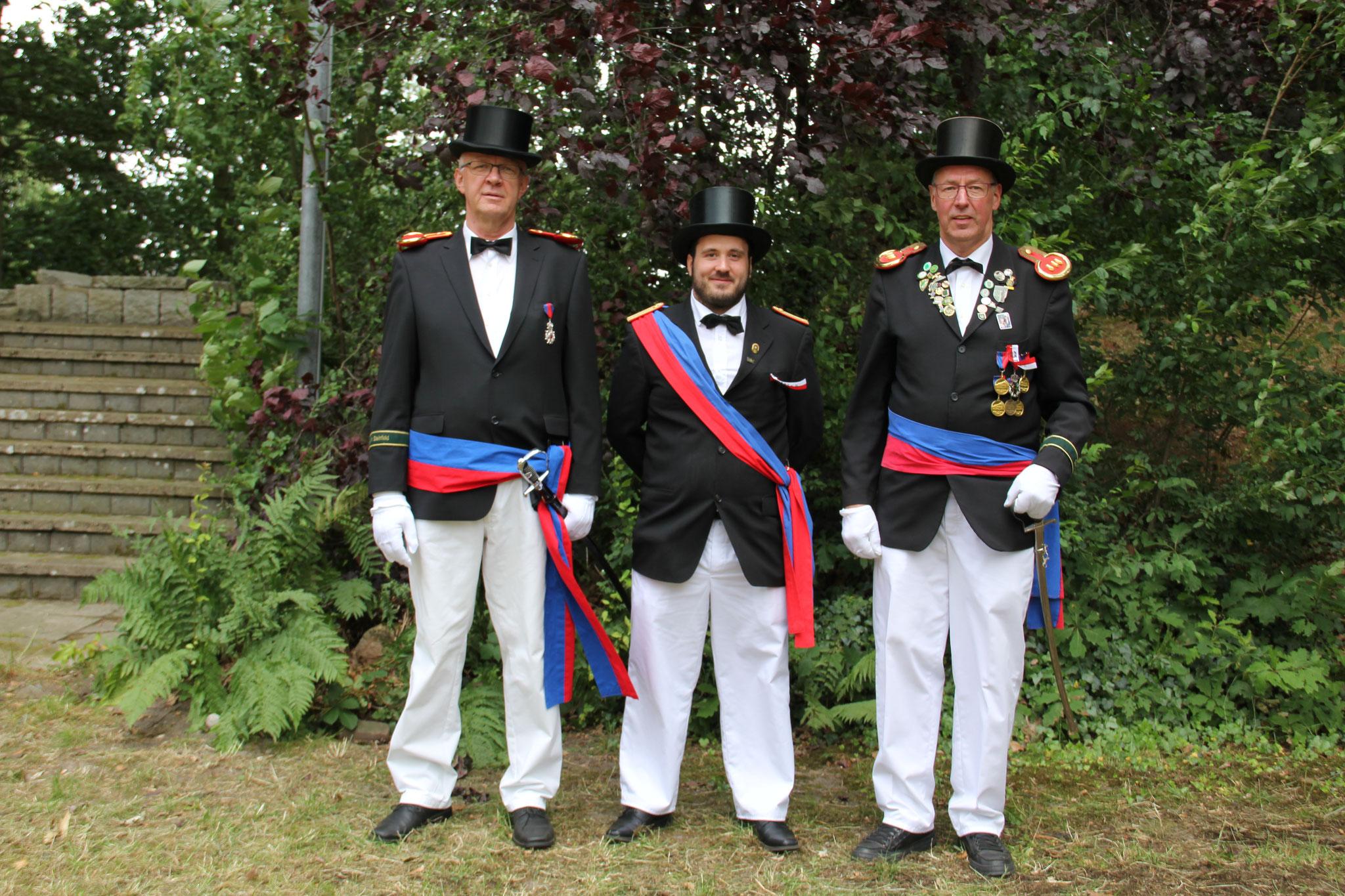 Offiziere der Kompanie Quellengrund: Klaus Schlarmann, Stefan Tscherbatko und Martin Willenbrink