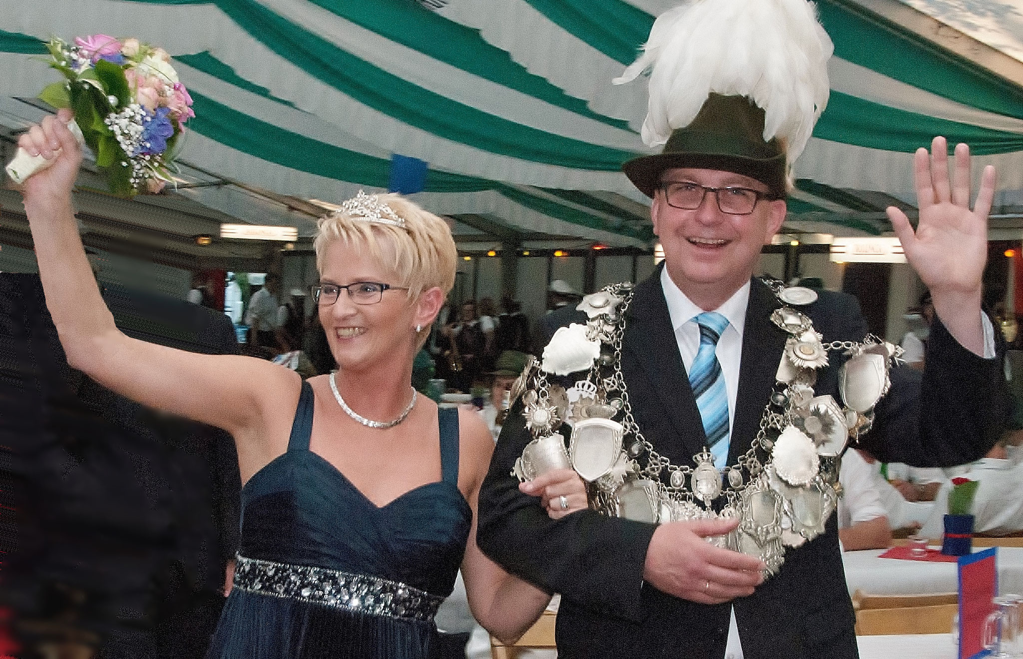 König Martin Scholz und Frau Angelika im Jahr 2013