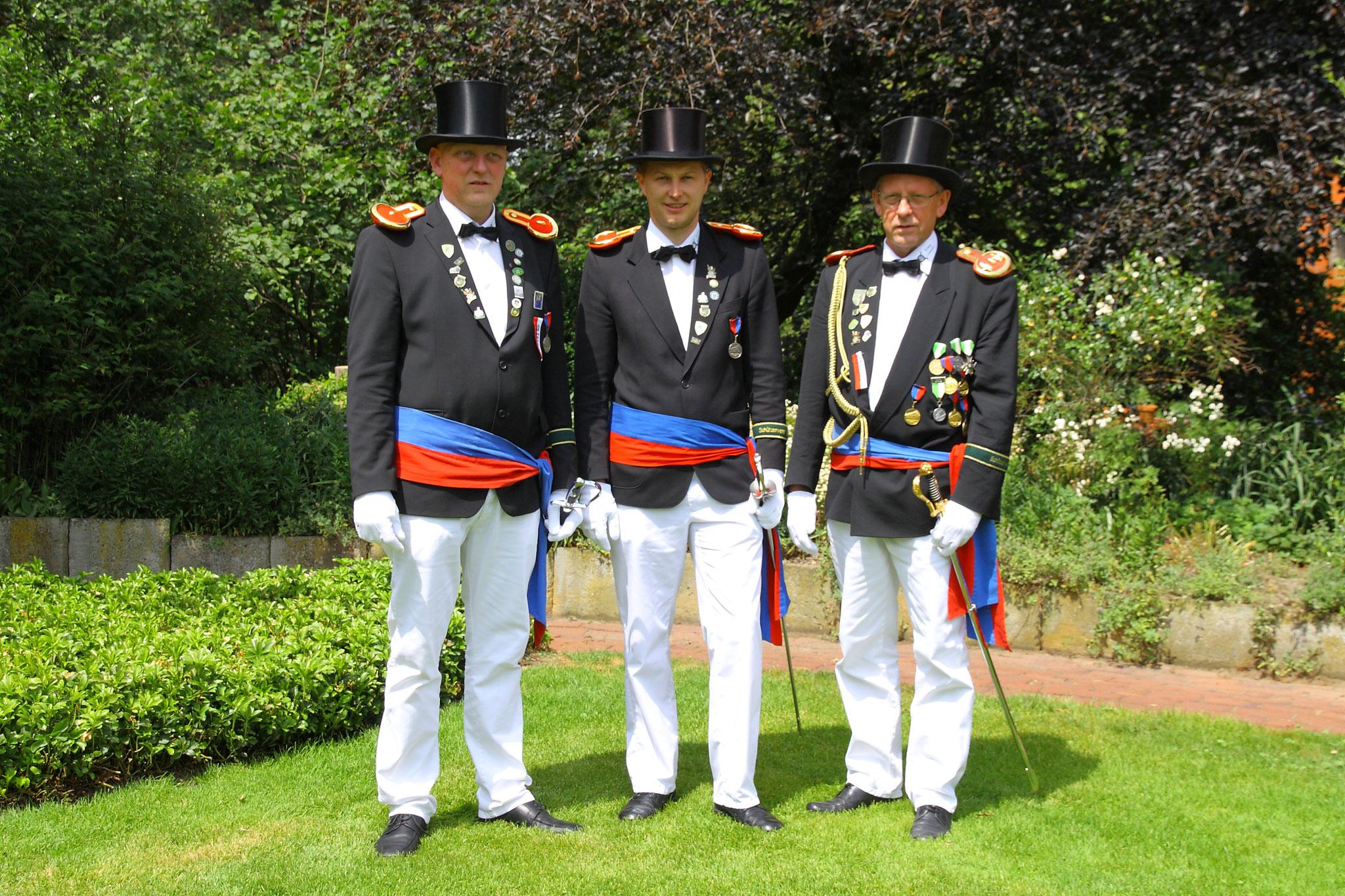 Offiziere der Kompanie Lehmden