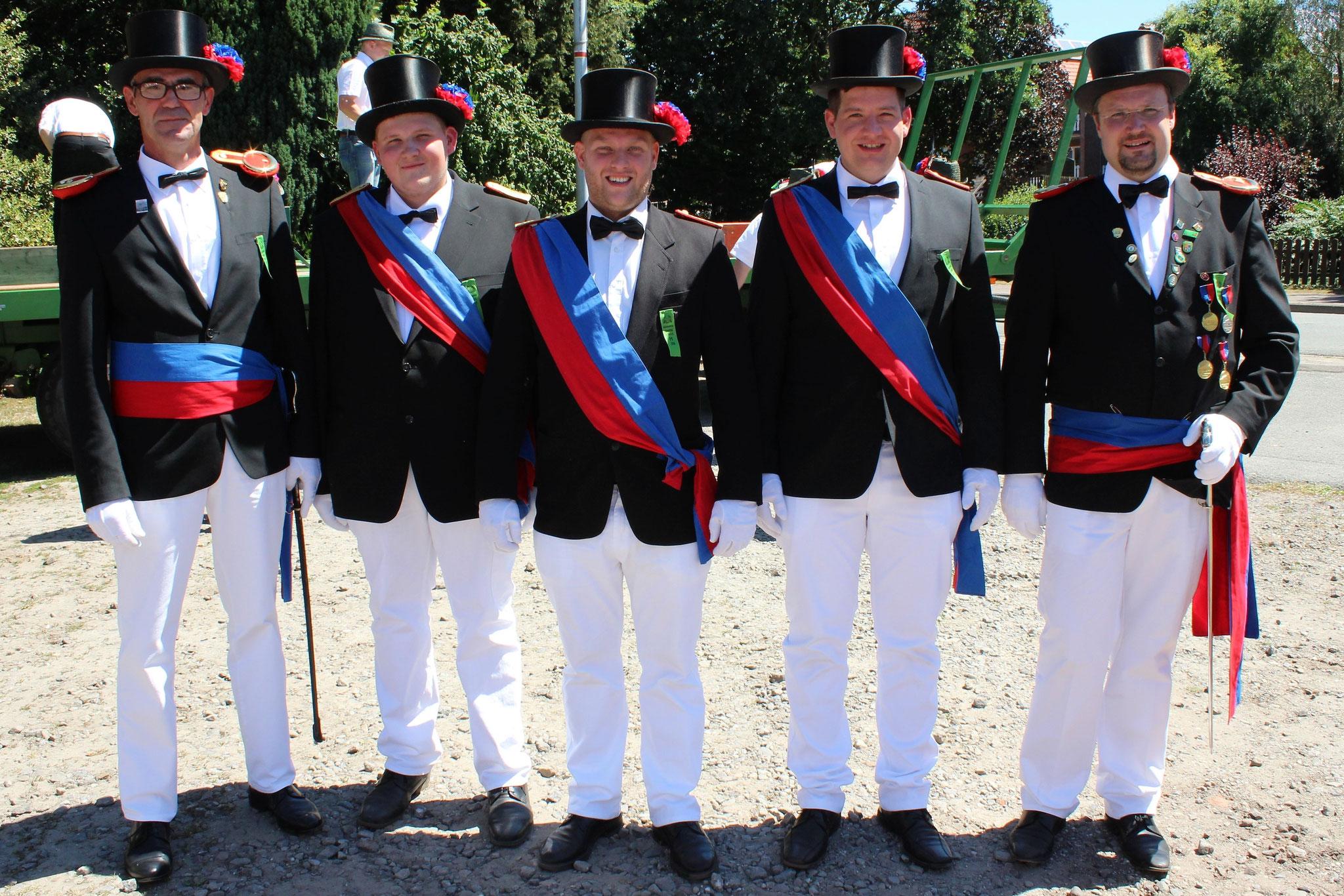 Die Offiziere der Kompanie Holthausen
