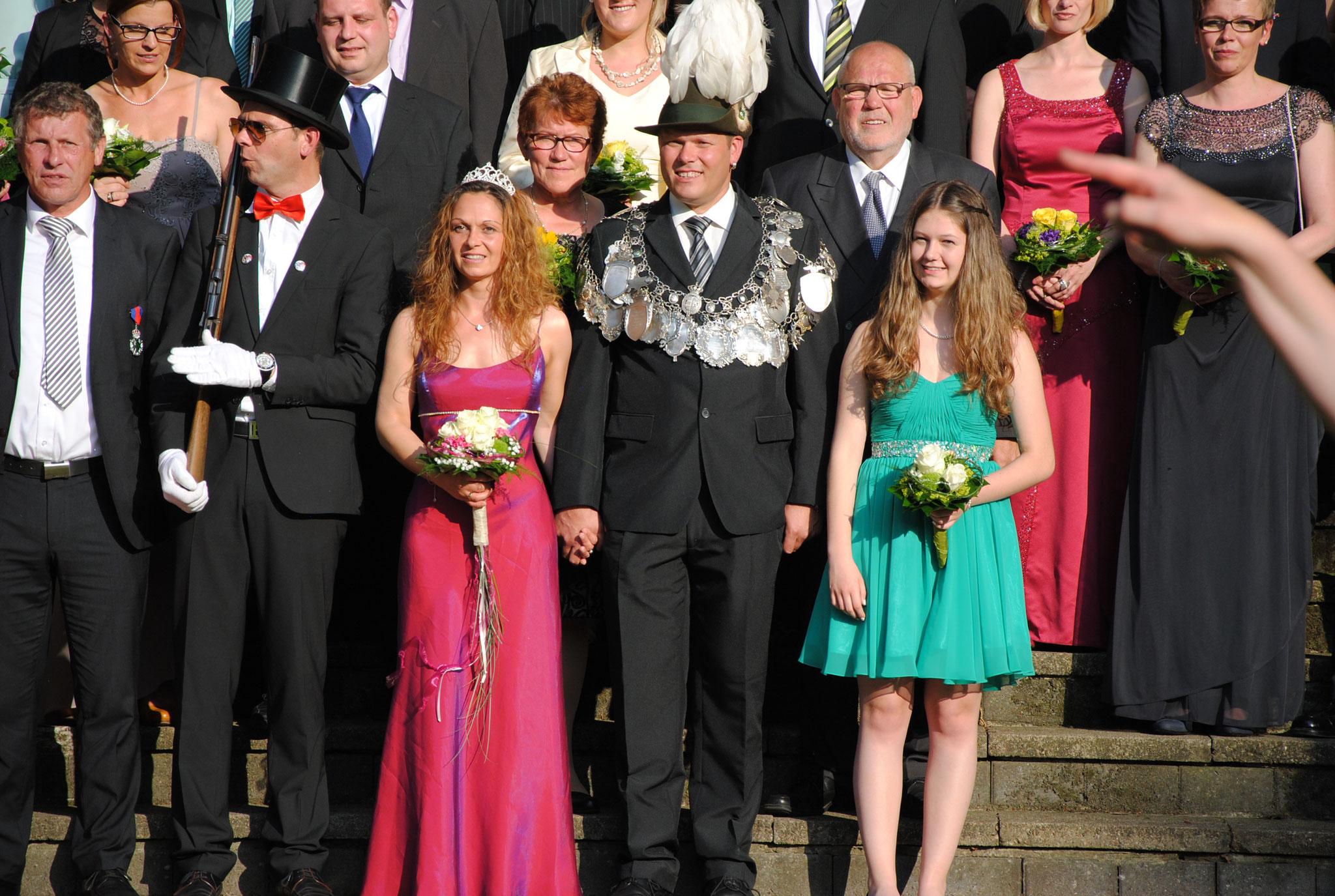 König Jan-Bernd mit Thron im Jahr 2015