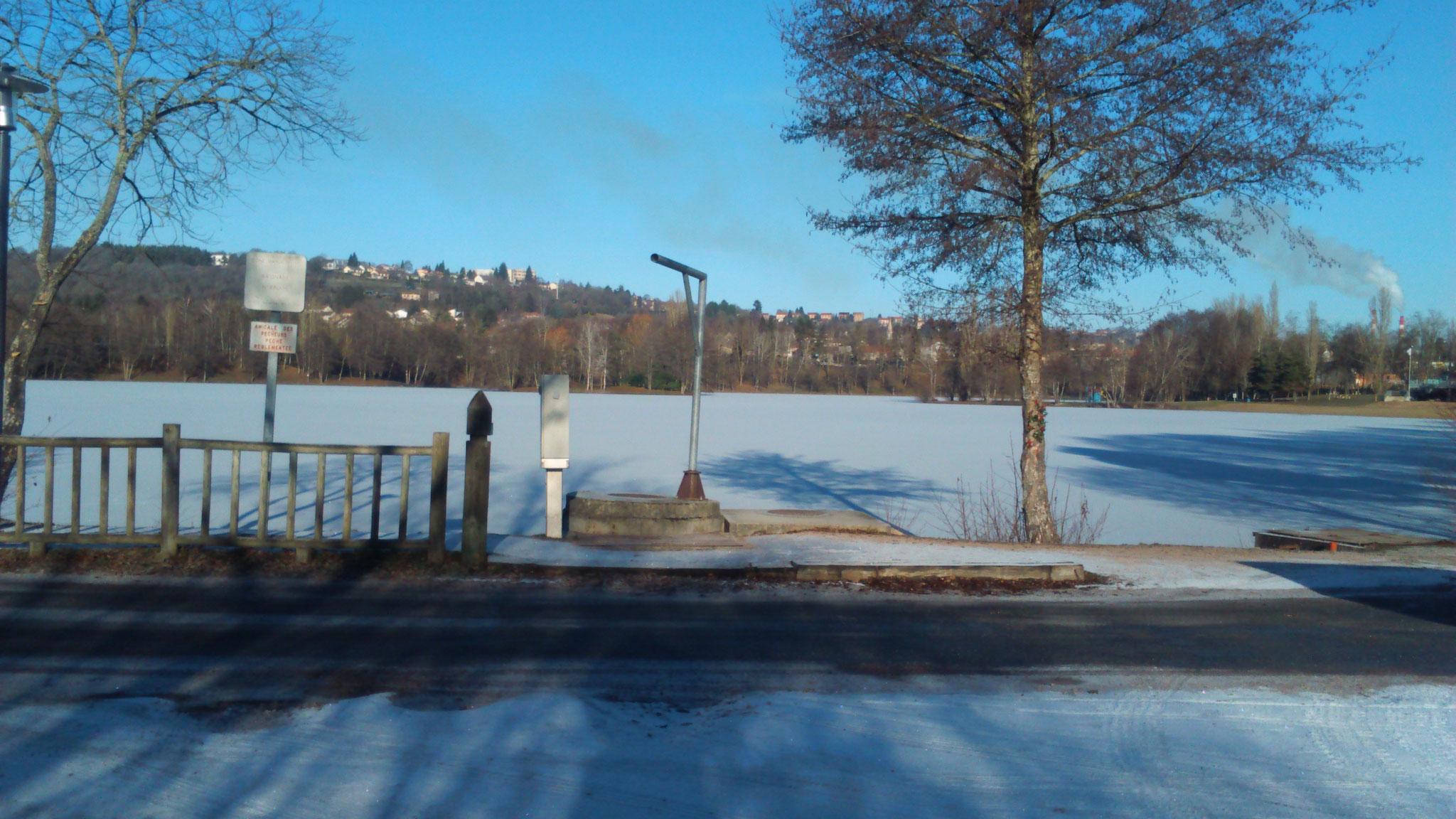 Grand plan d'eau entrée sud le 6 janvier