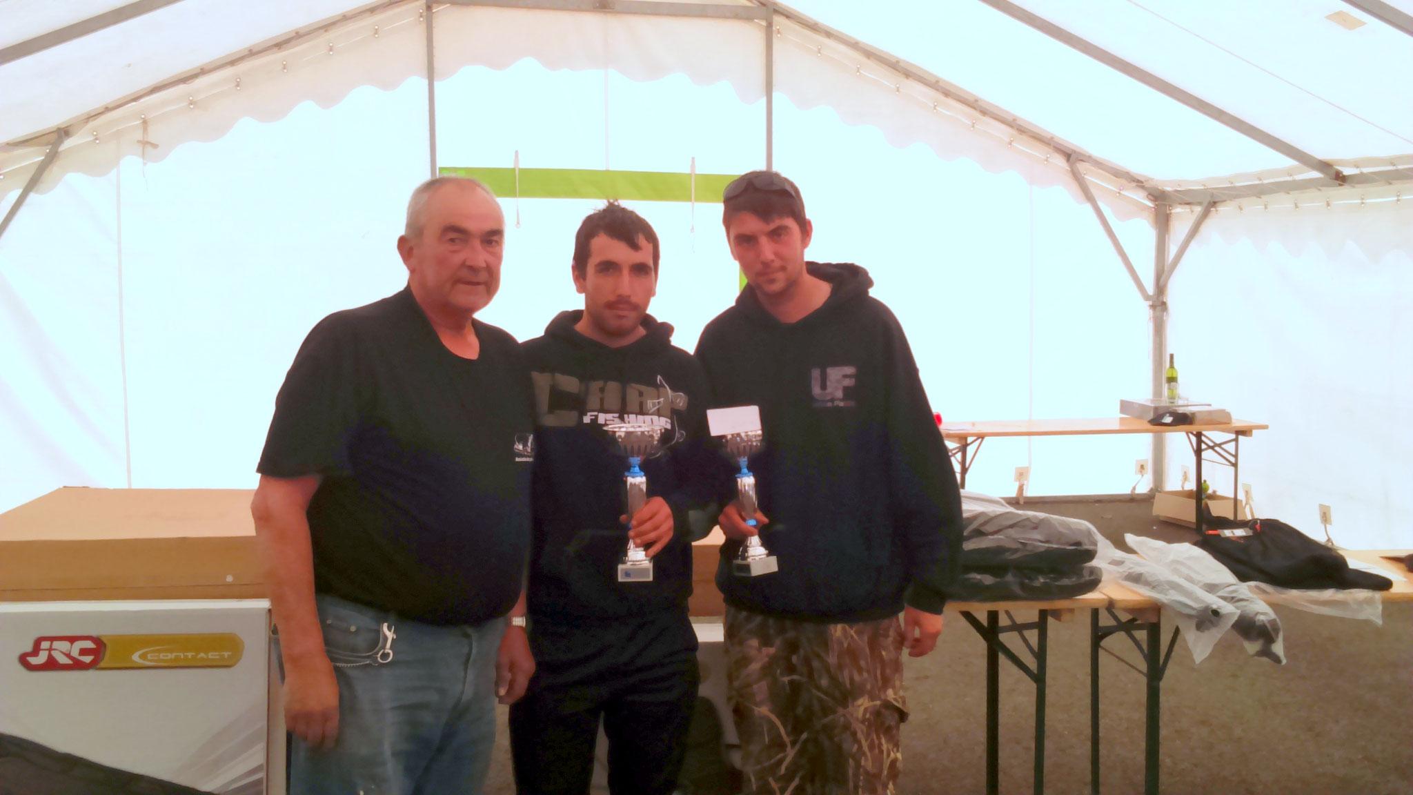 Premier de l'enduro avec 17 prises et 108,700 kg de poisson, Benay  Vivien et Mouellic Aurélien