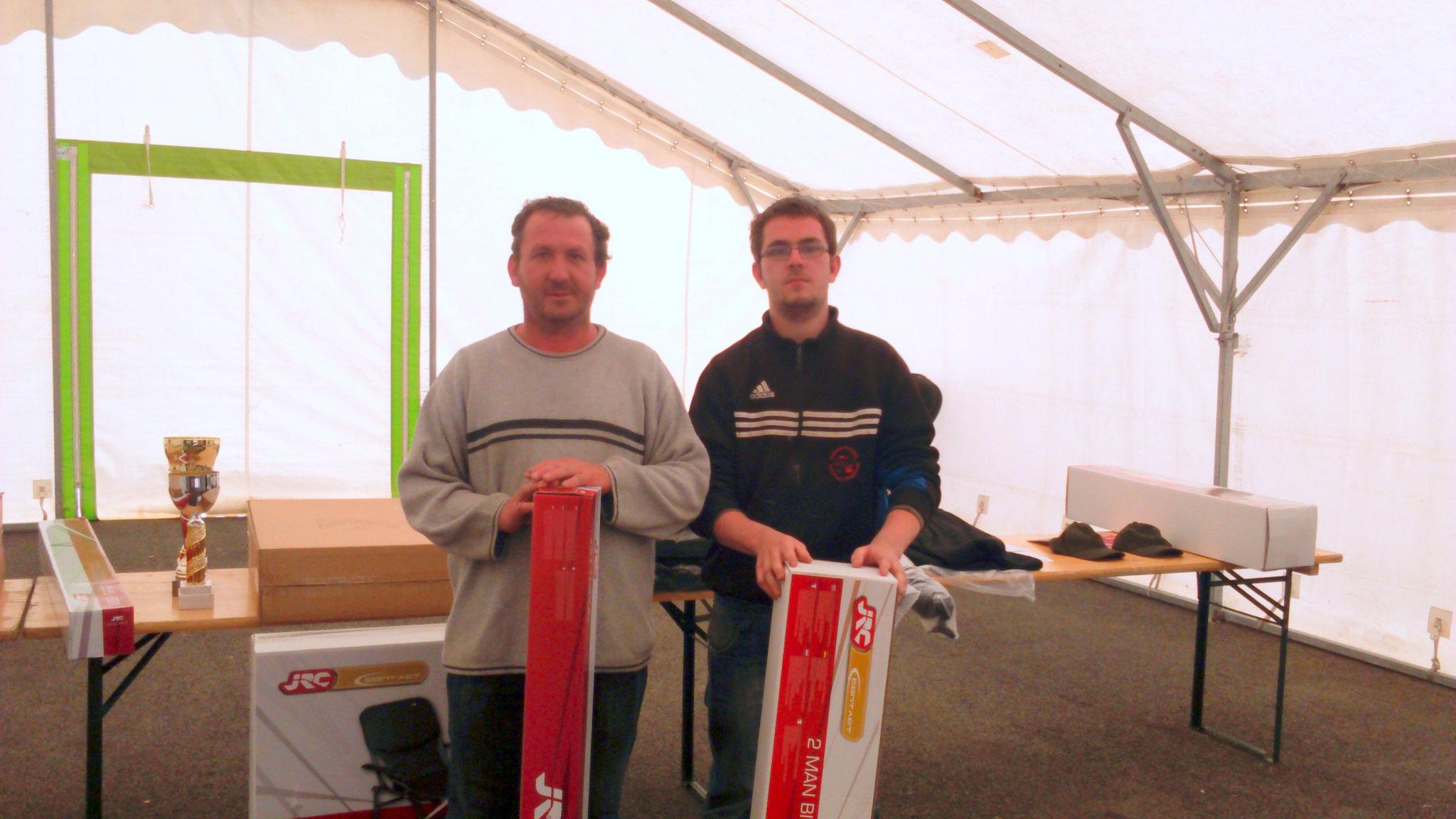 2 ème avec 7 prises et 53,890 kg de poisson, Vallenet Christophe et Pegny Antoine