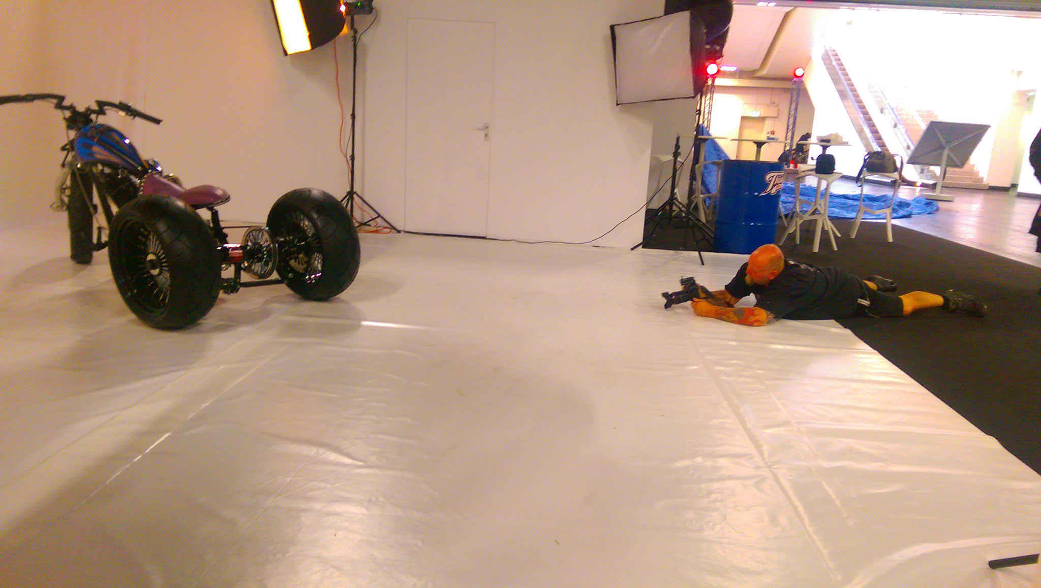 Mein Kollege Onno Wieringa beim Shooting
