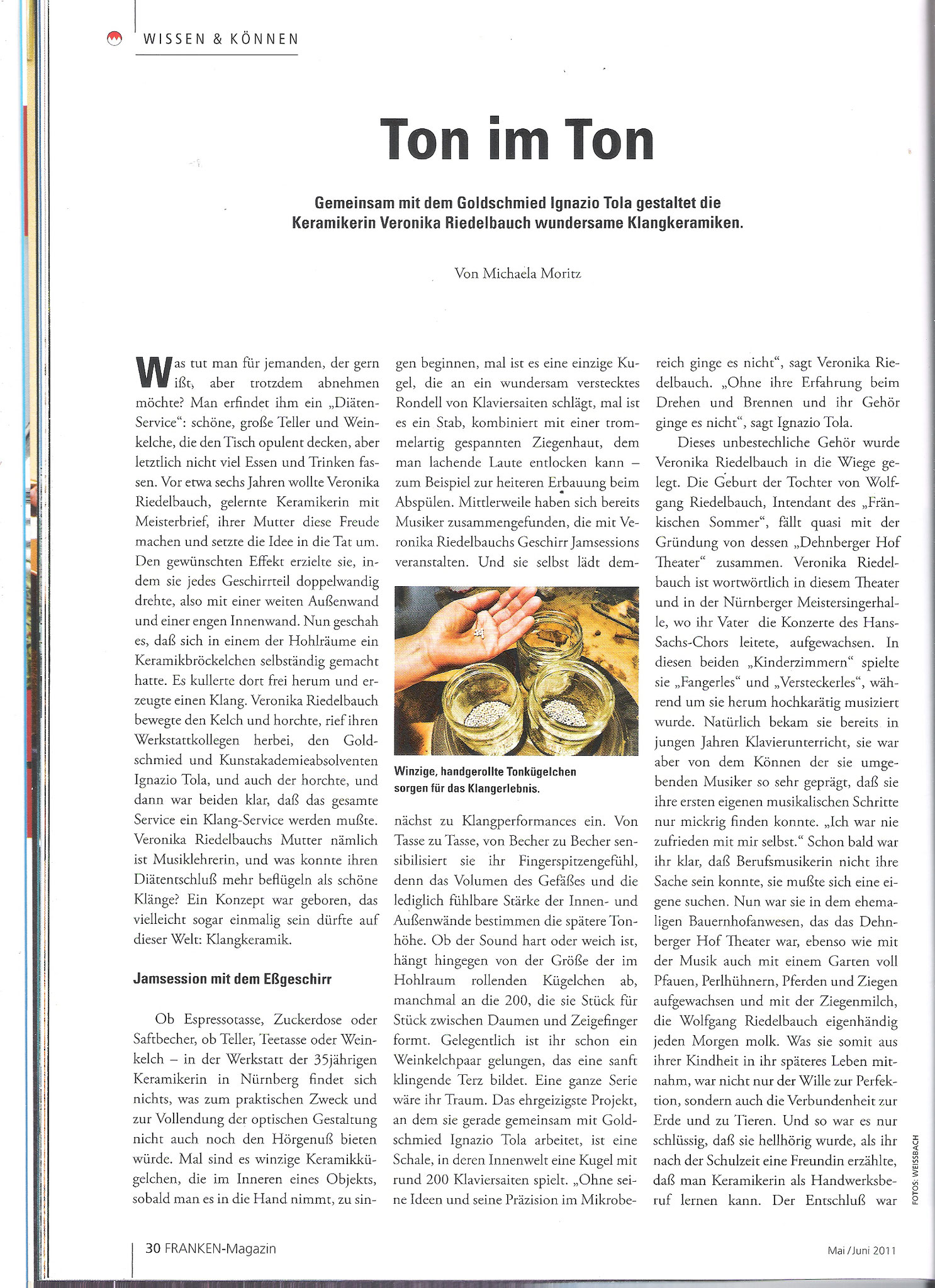 wundersame Klangkeramiken - FANKEN-Magazin